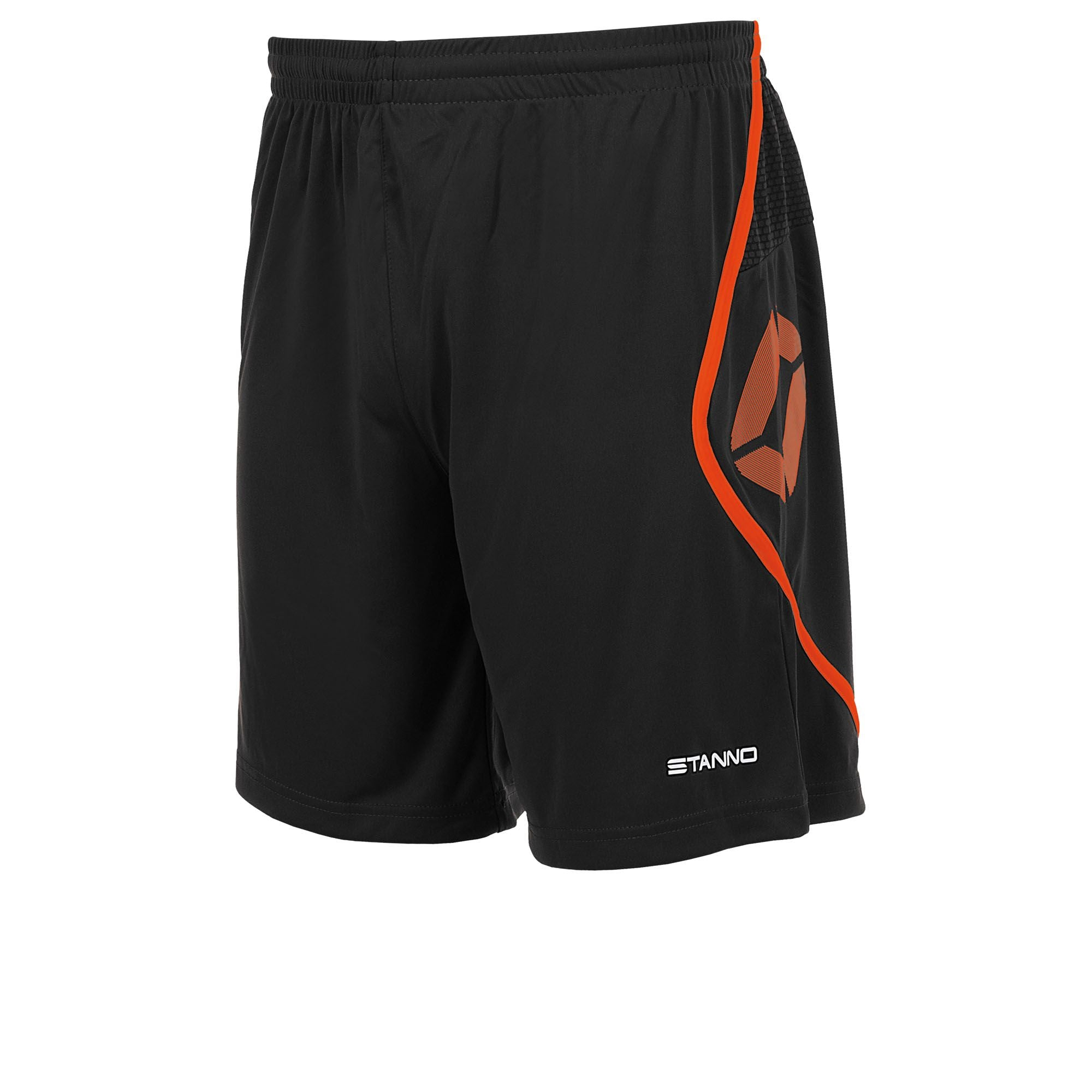 Stanno Pisa Shorts - Black/Shocking Orange