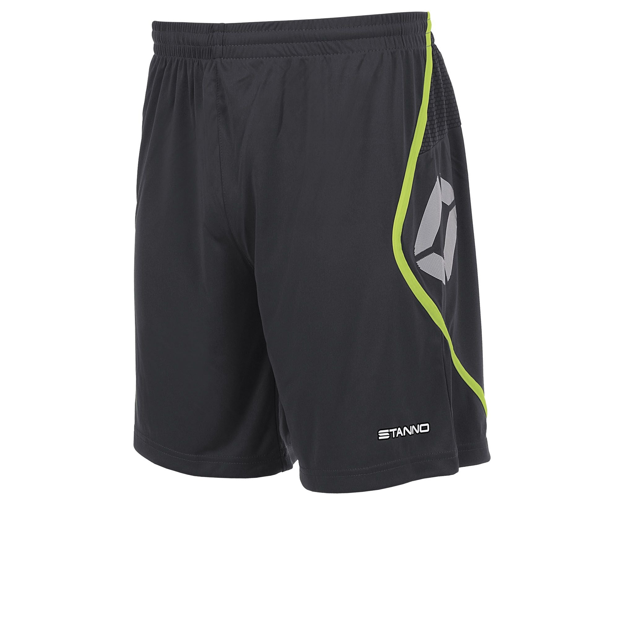 Dexters - Away - Stanno Pisa Shorts - Anthracite/Neon Yellow