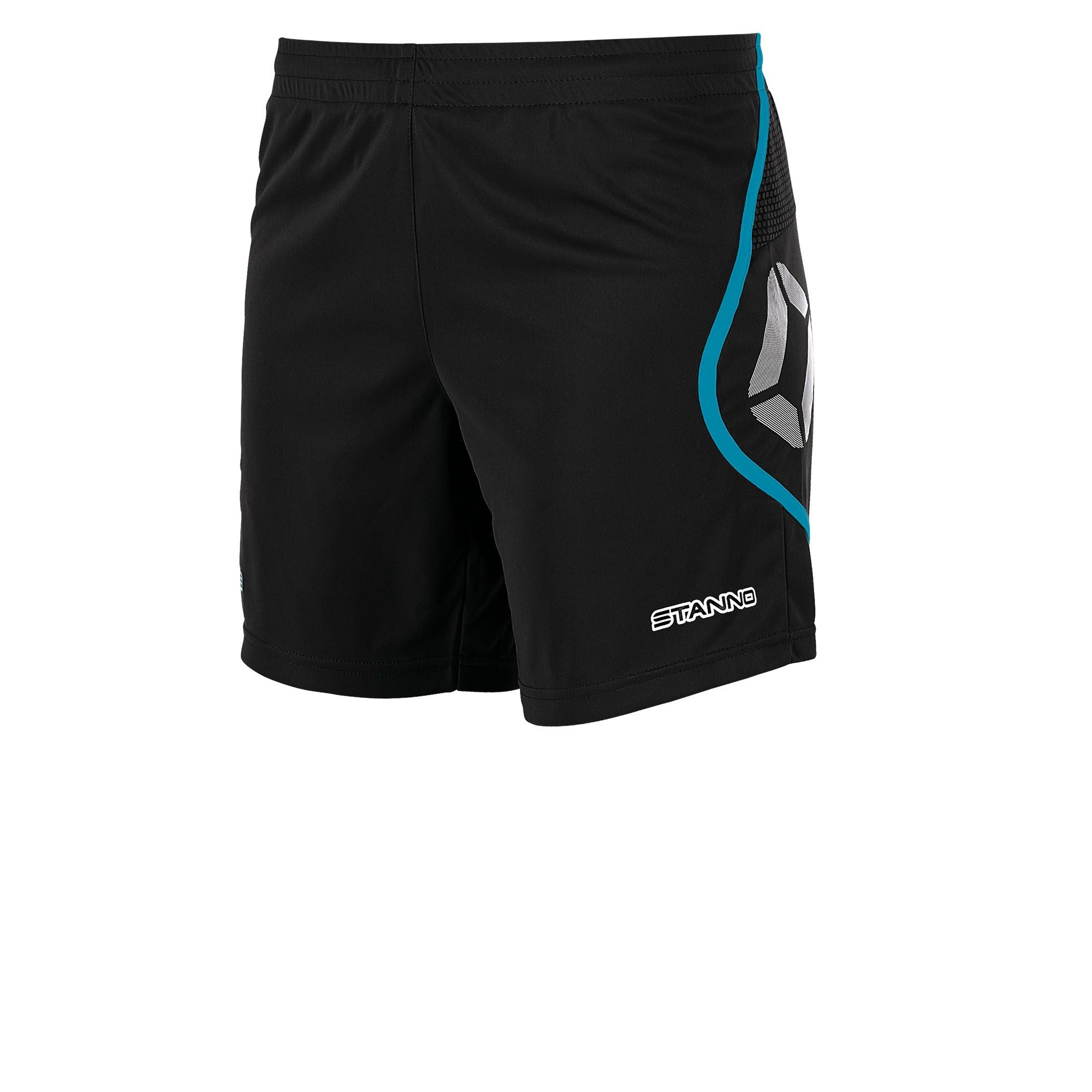 Stanno Pisa Shorts Ladies - Black/Aqua Blue