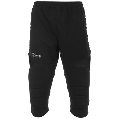 Stanno Breckon 3/4 length goalkeeper trousers in black with protective padding on the hips and knees