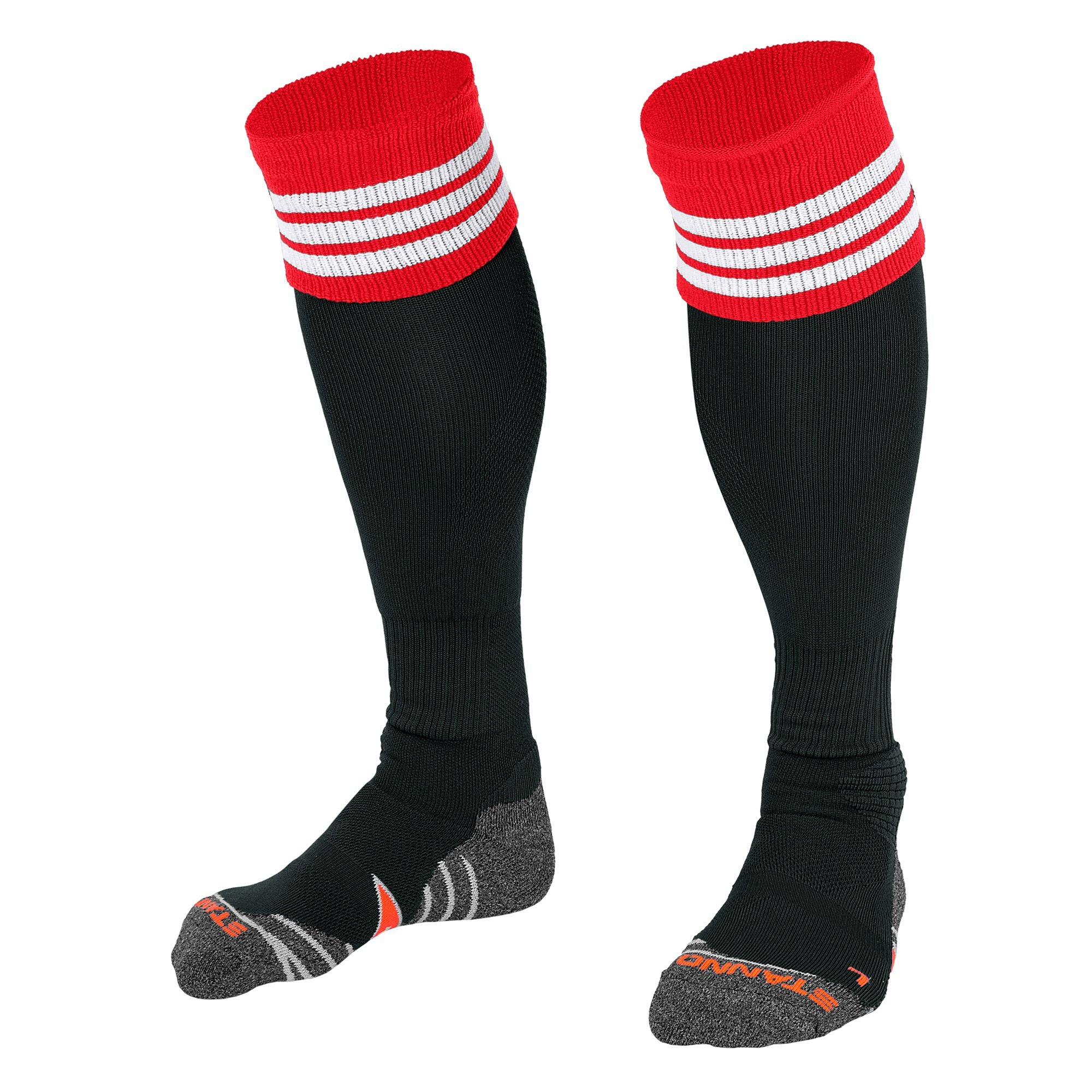 Stanno Ring Sock - Black/Red/white