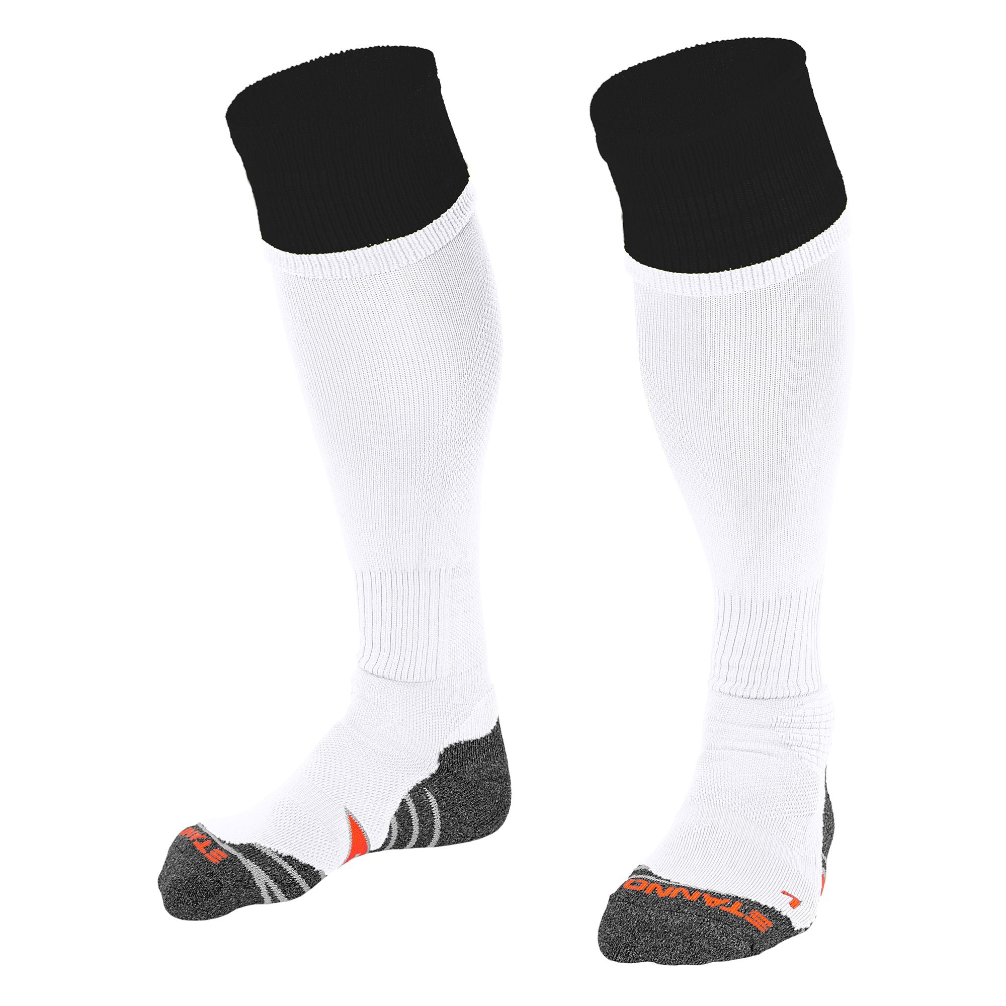 Stanno Combi Sock in white with black contrast tops