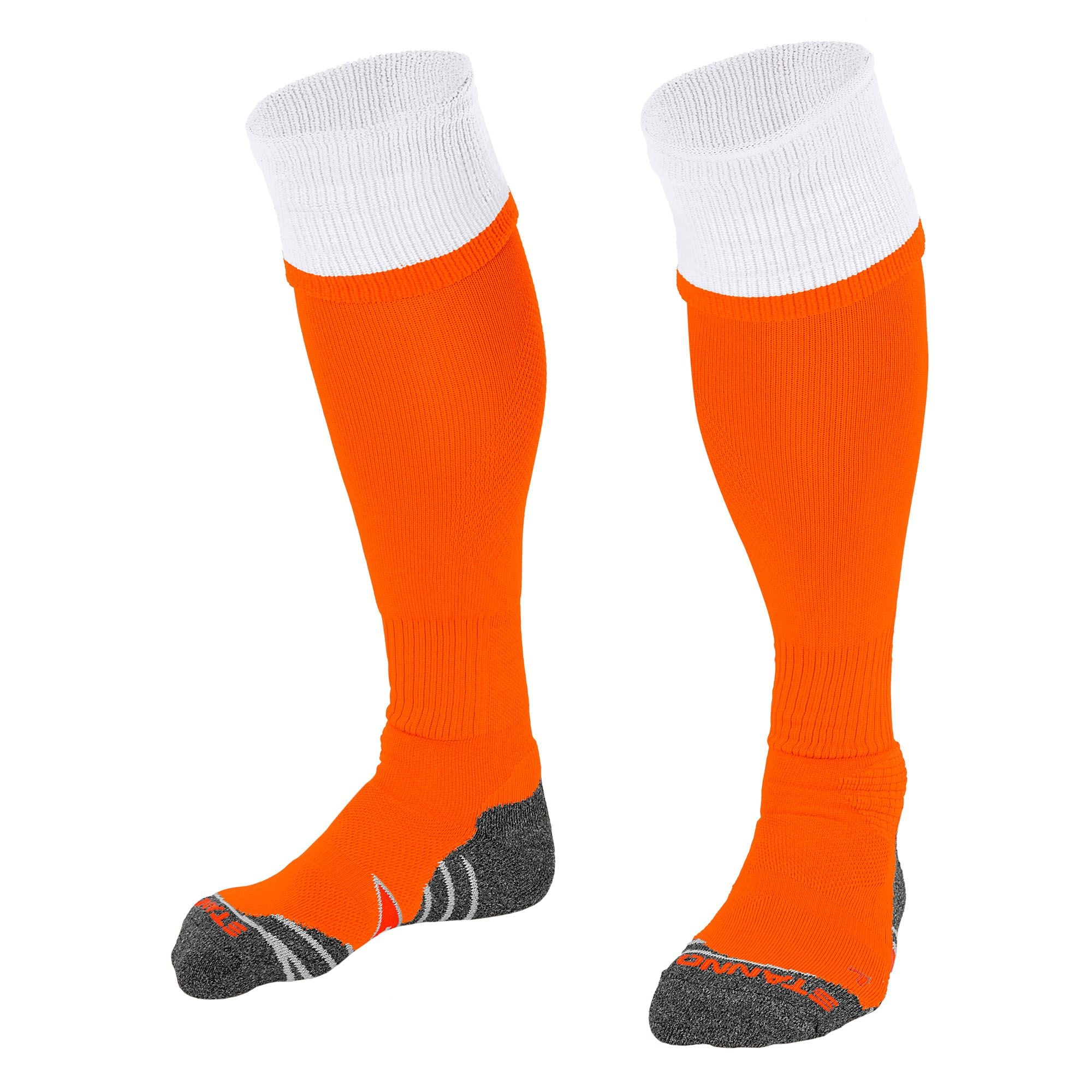 Stanno Combi Sock in orange with white contrast tops