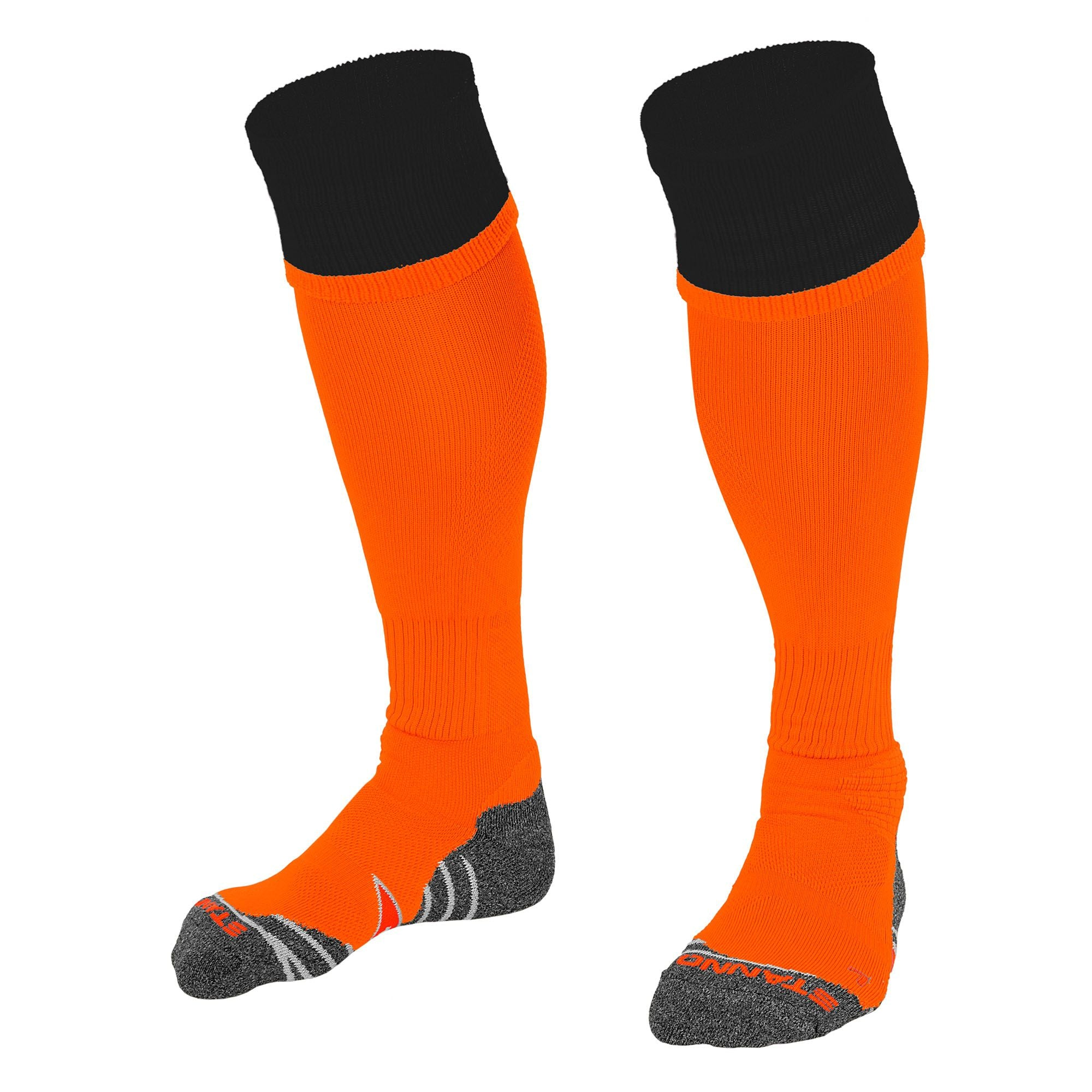 Stanno Combi Sock in orange with black contrast tops