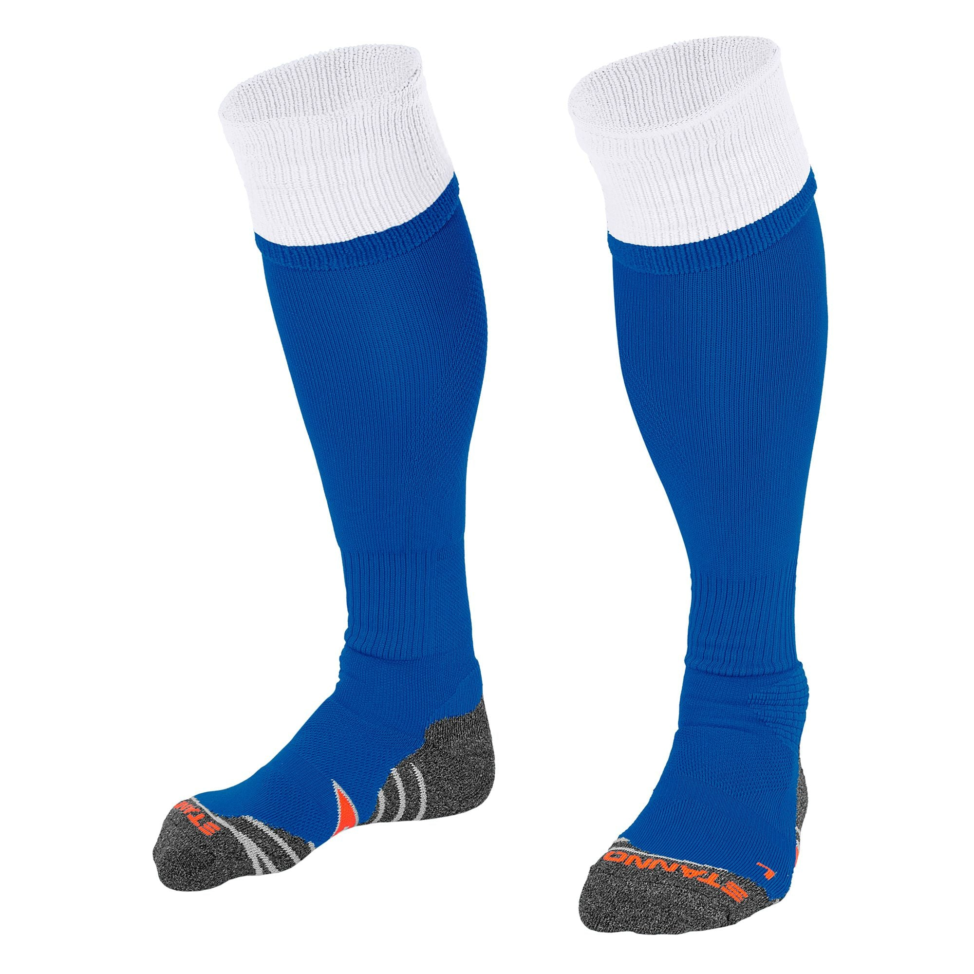 Stanno Combi Sock in royal blue with white contrast tops