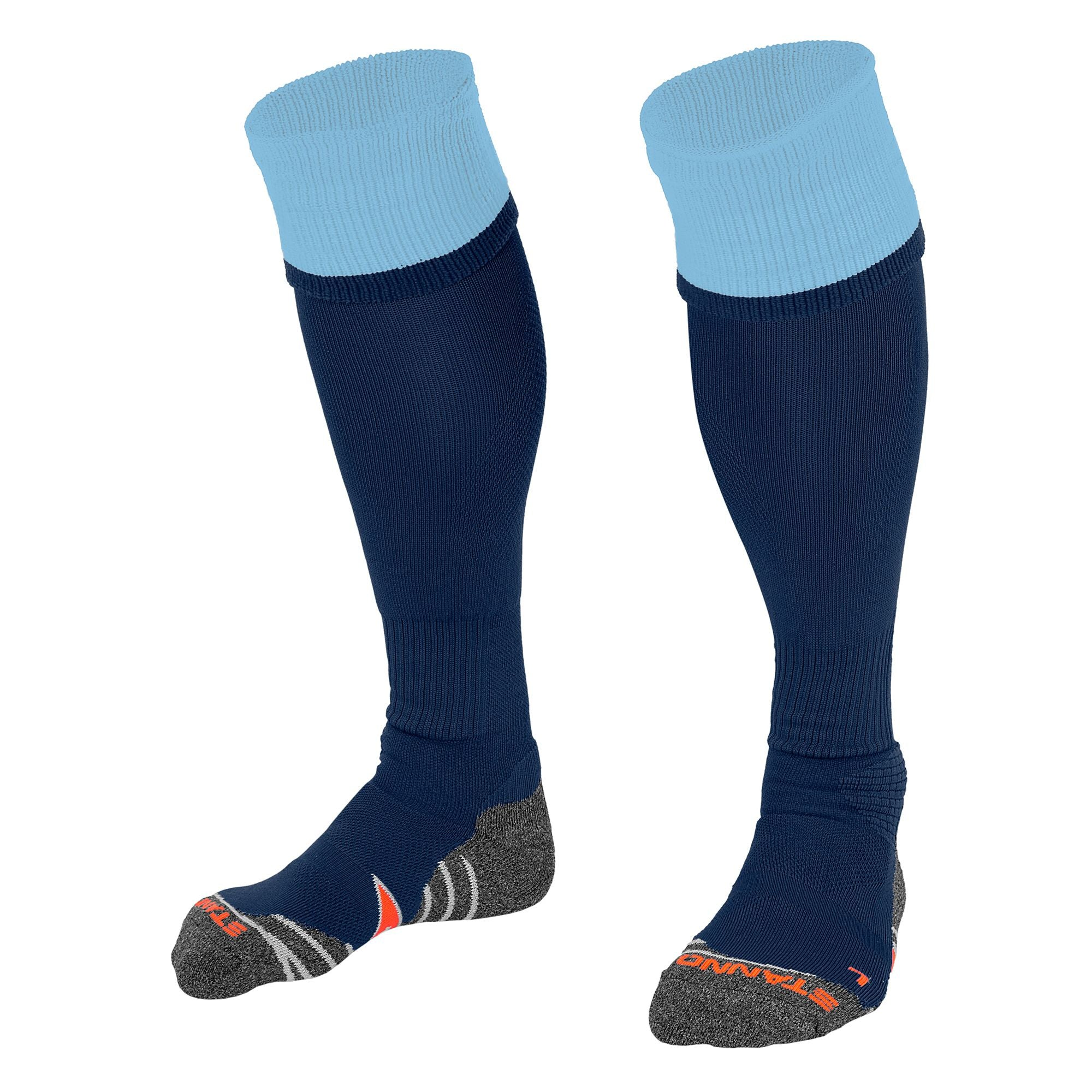 Stanno Combi Sock in navy with sky blue contrast tops