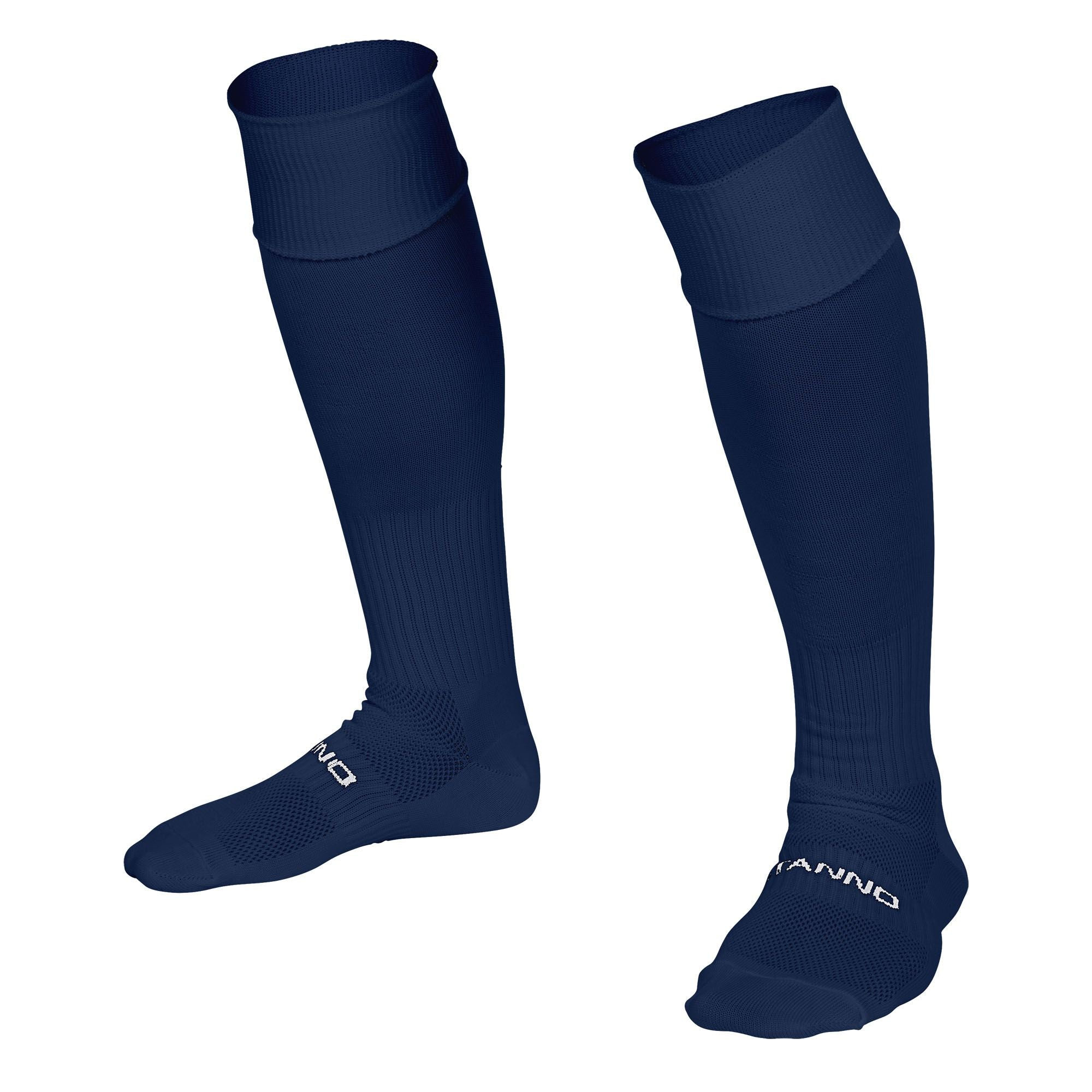 Stanno Park sock in navy with Stanno text across the top of the foot.