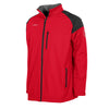 Front of Red Stanno Centro All season jacket with black contrast shoulder