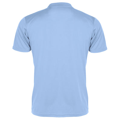 Rear of Stanno Field sky blue polo shirt