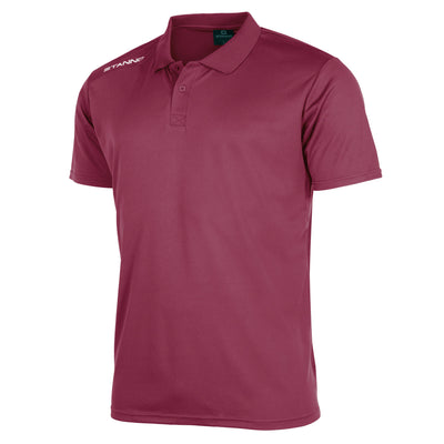 Front of Stanno Field Polo in maroon