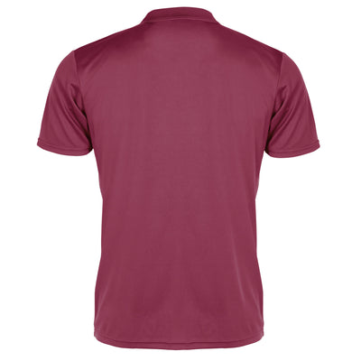 Back of Stanno Field Polo in maroon