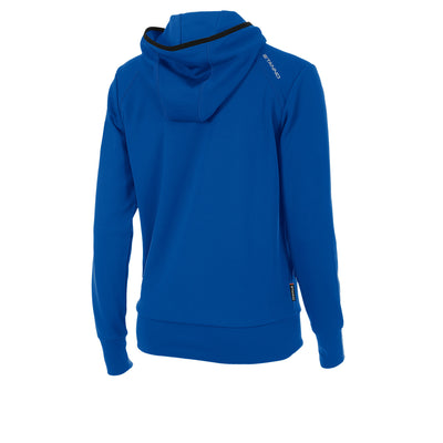 rear of Stanno Centro hooded sweat ladies in royal blue