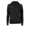 Front of Stanno Centro Hooded sweat ladies in black with anthracite decal