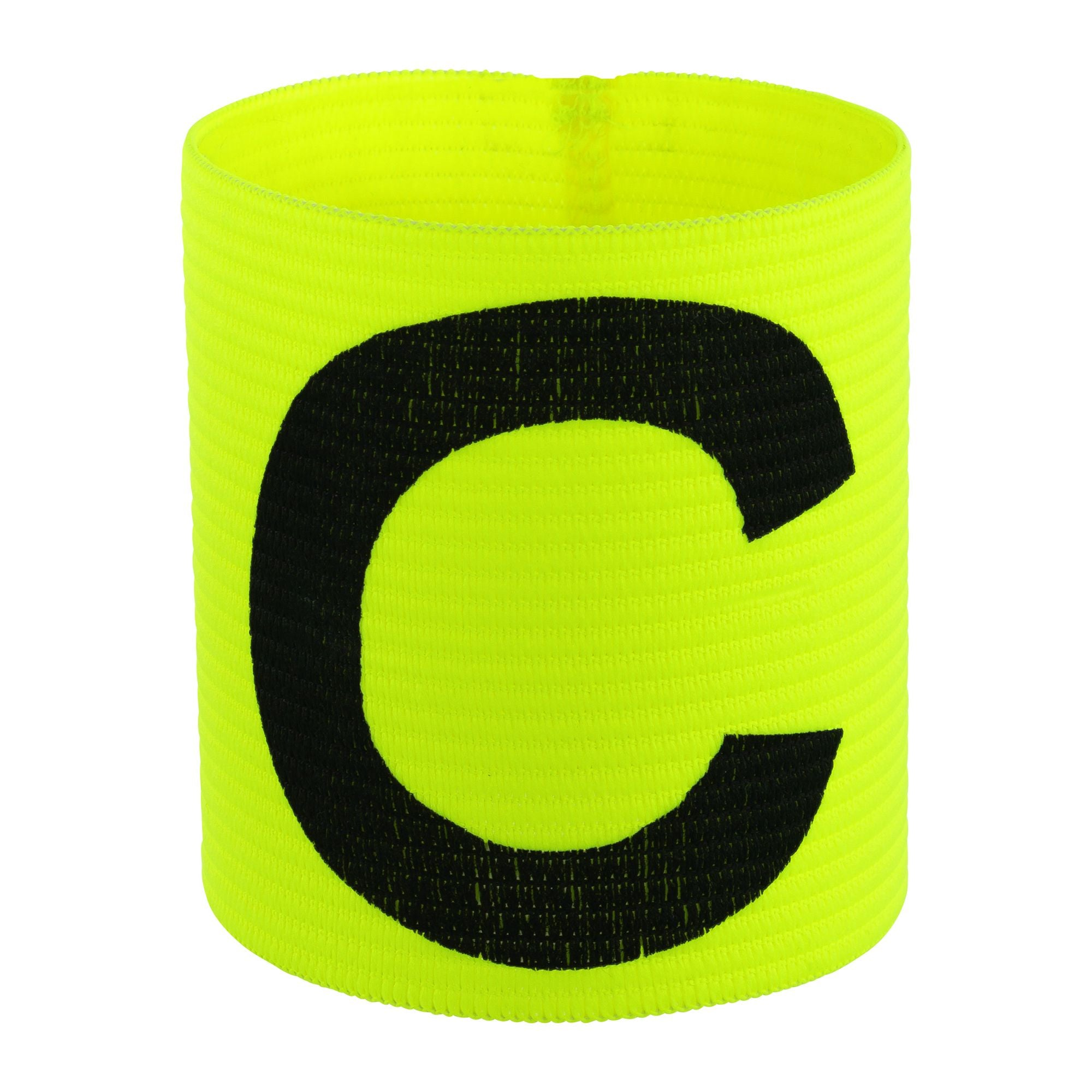 yellow captains armband with large black C