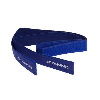 2 Stanno blue socks holders with white printed Stanno logo
