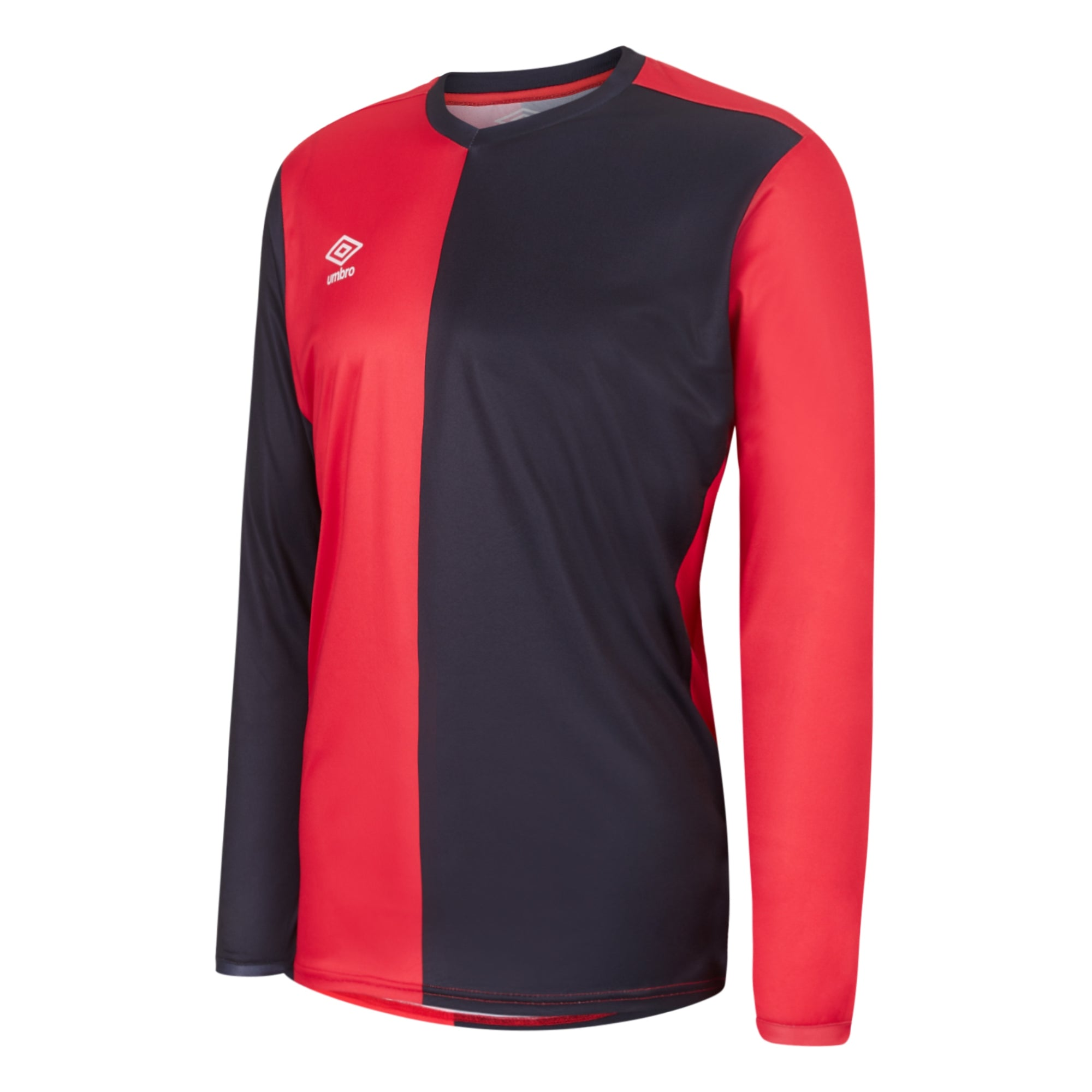 Umbro 50/50 LS Jersey - Vermillion/Black