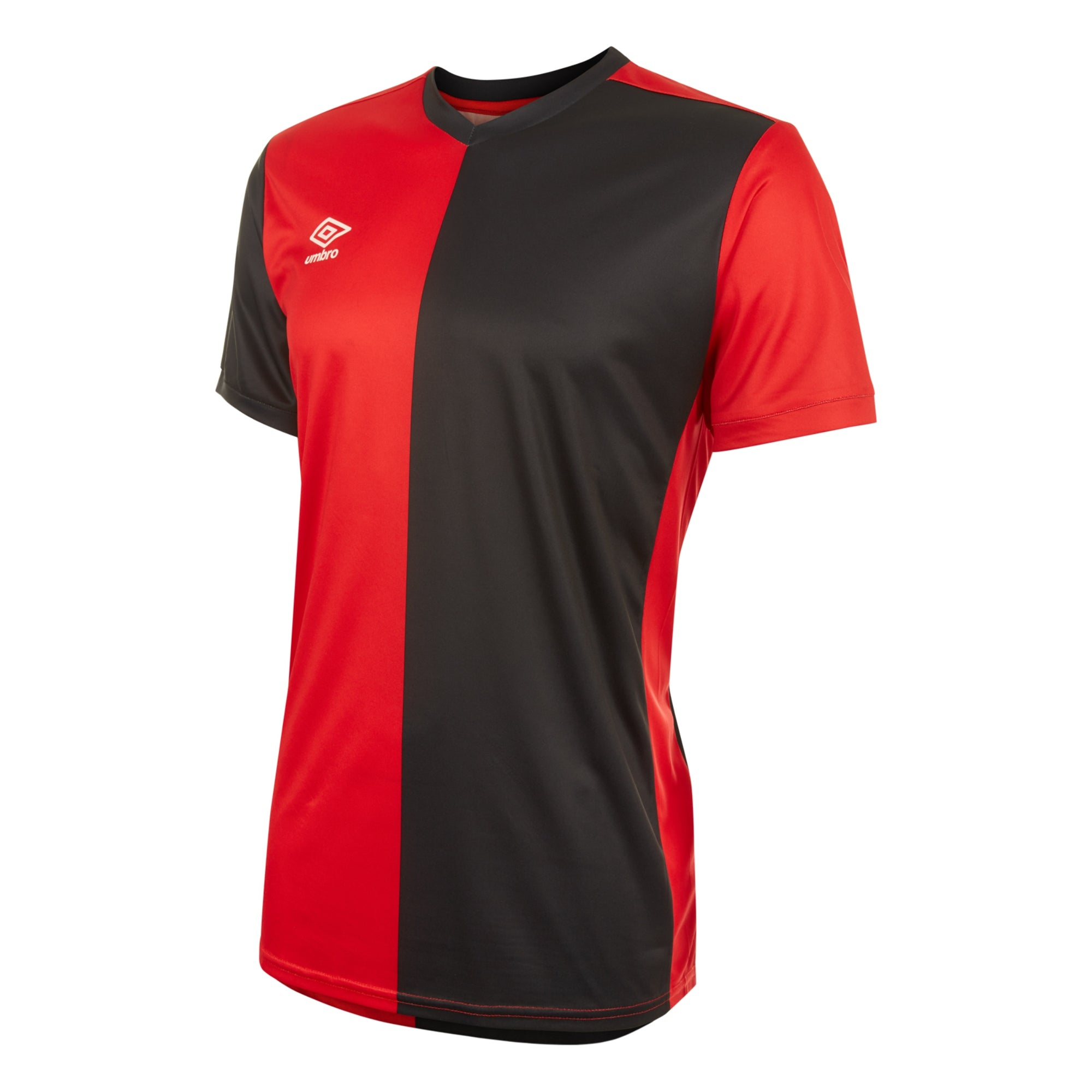 Umbro 50/50 SS Jersey - Vermillion/Black
