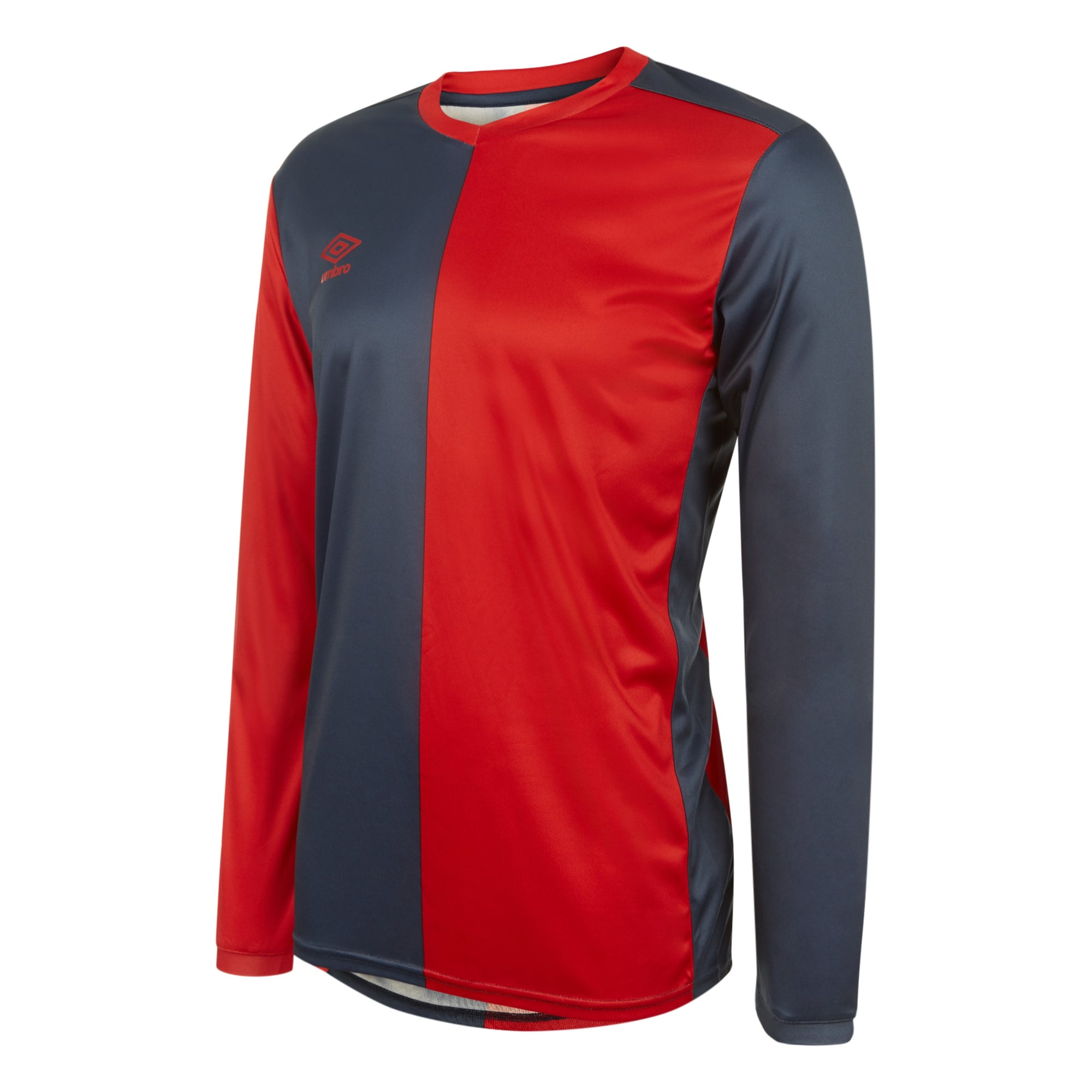 Umbro 50/50 LS Jersey - Vermillion/Dark Navy