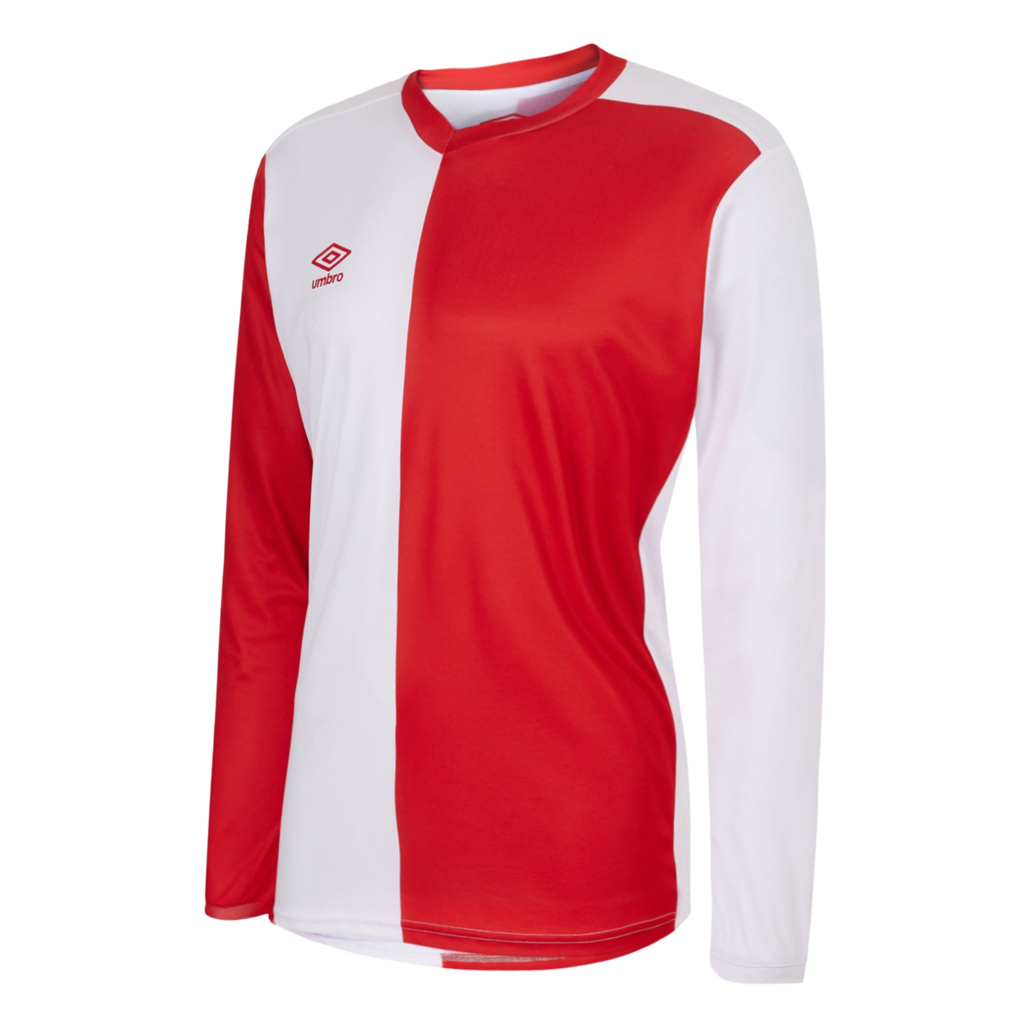 Umbro 50/50 LS Jersey - Vermillion/White