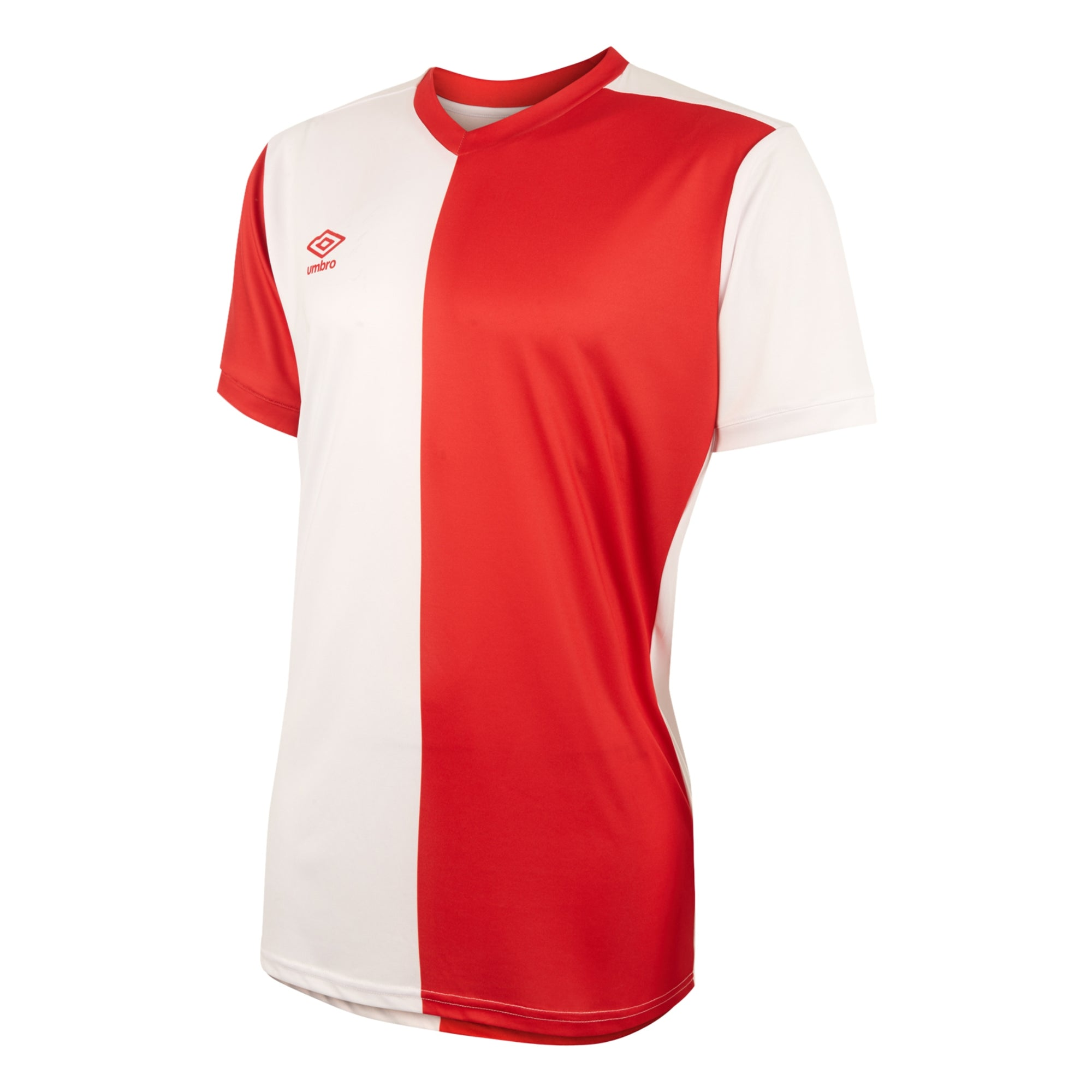 Umbro 50/50 SS Jersey - Vermillion/White
