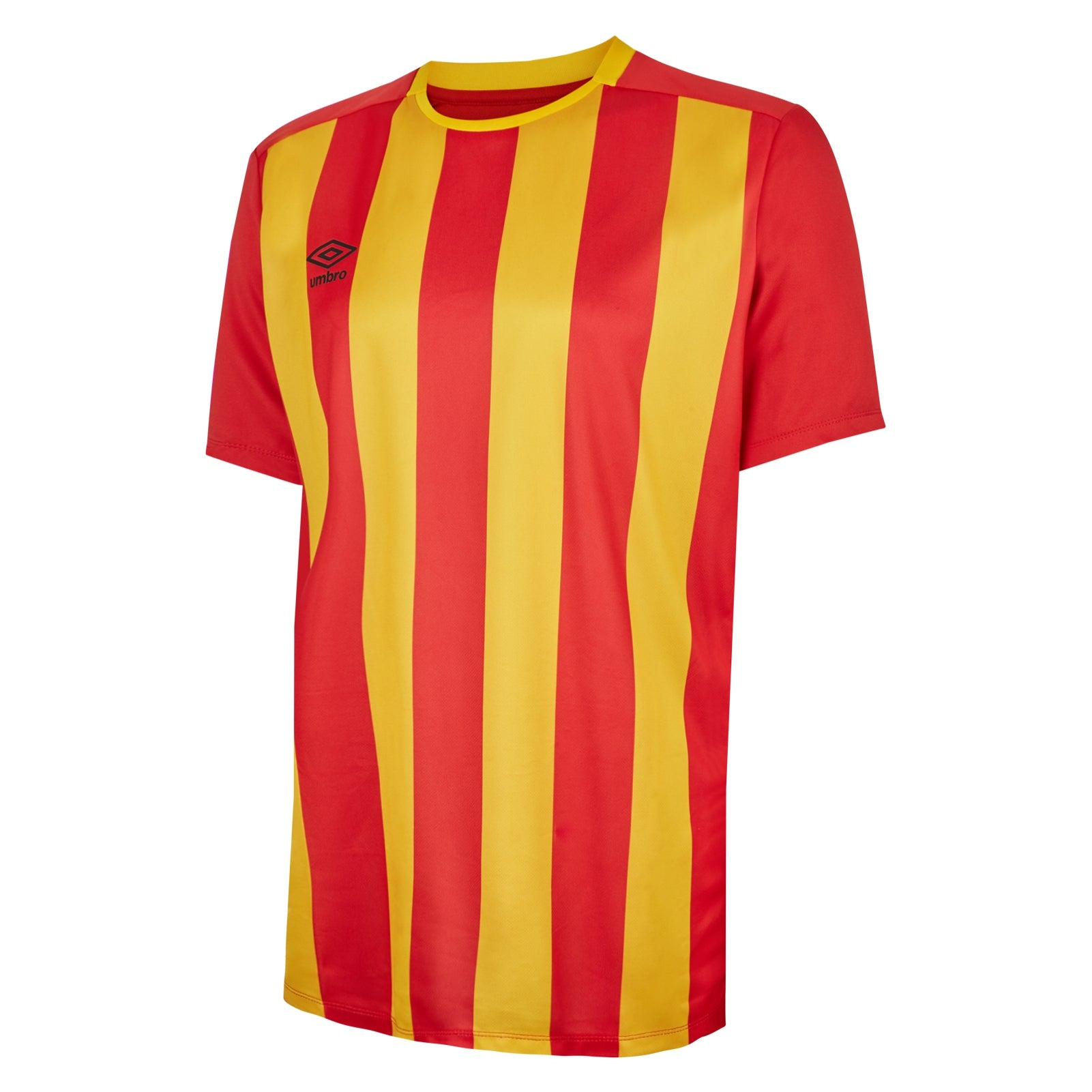 Umbro Milan jersey in short sleeve with vermillion (red) and SV Yellow stripes