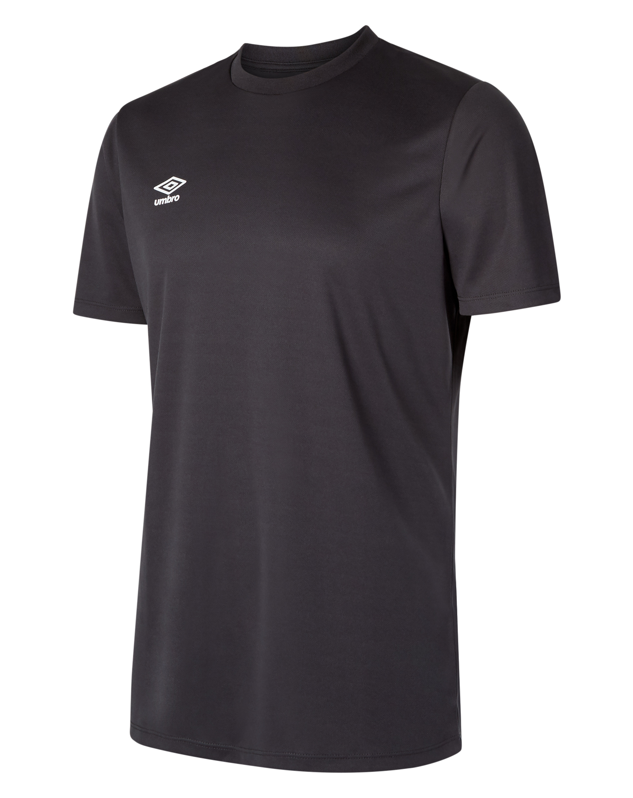 Short sleeve Umbro Club jersey in carbon  with white Umbro logo