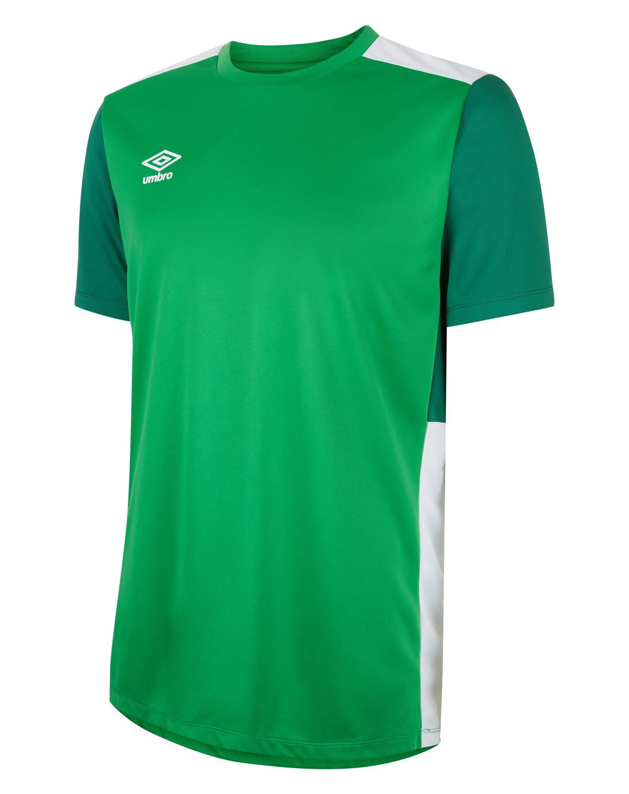 Umbro training poly jersey in emerald  with contrast darker green sleeve