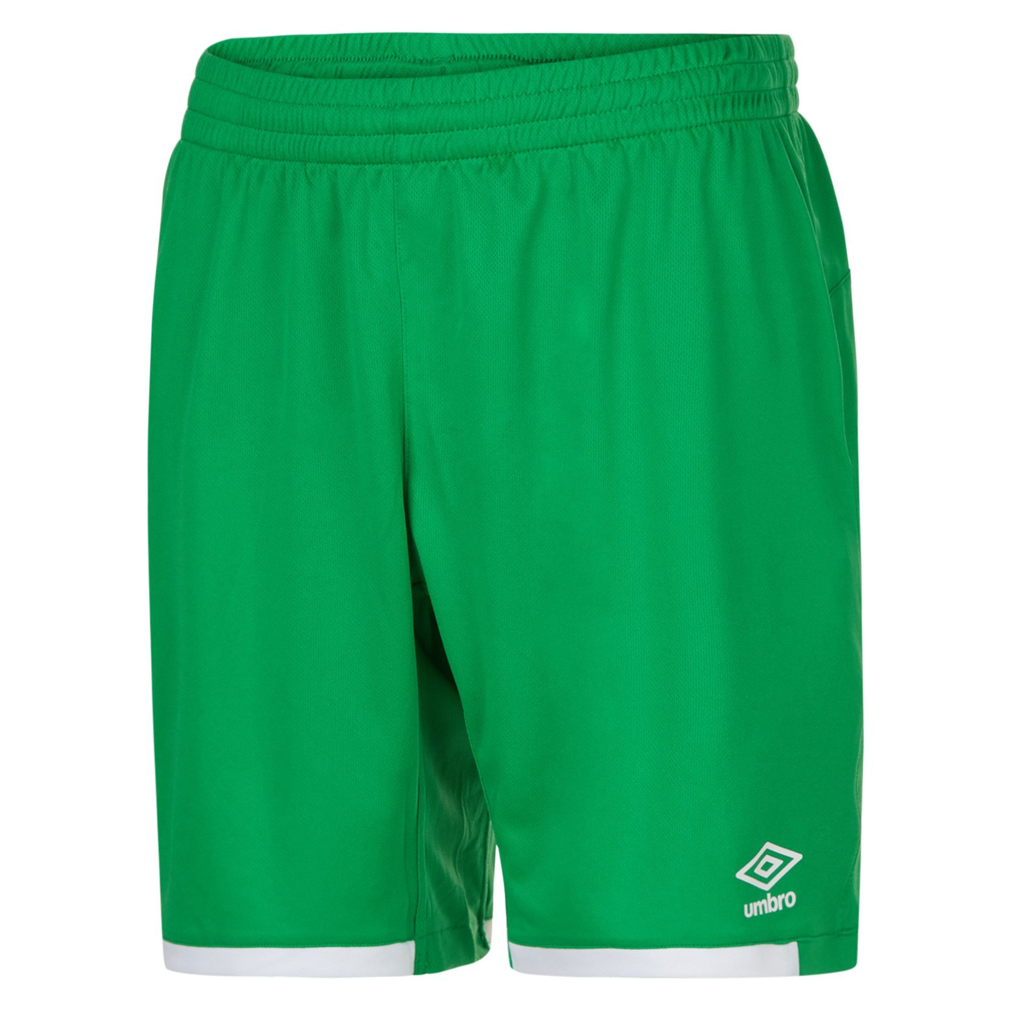 emerald umbro premier shorts with contrast white hems
