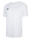 Umbro Legacy jersey in white with v-neck collar