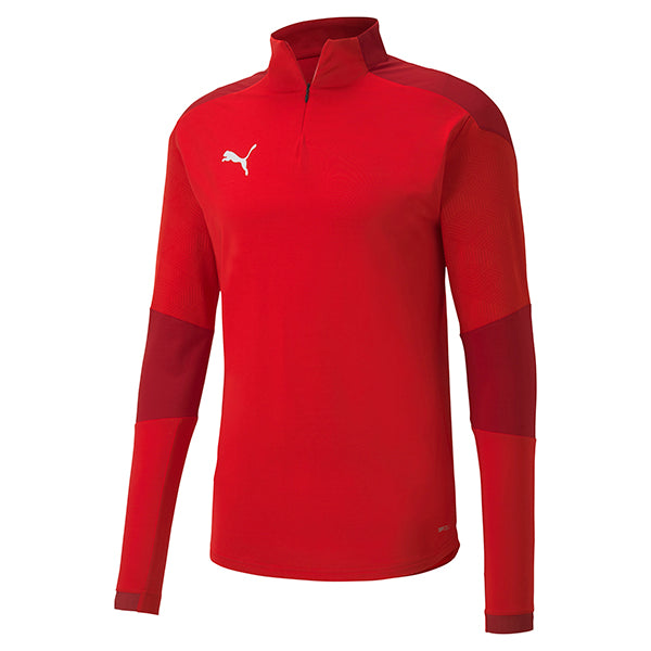 Puma Final Training 1/4 Zip Training Top - Red/Chilli Pepper