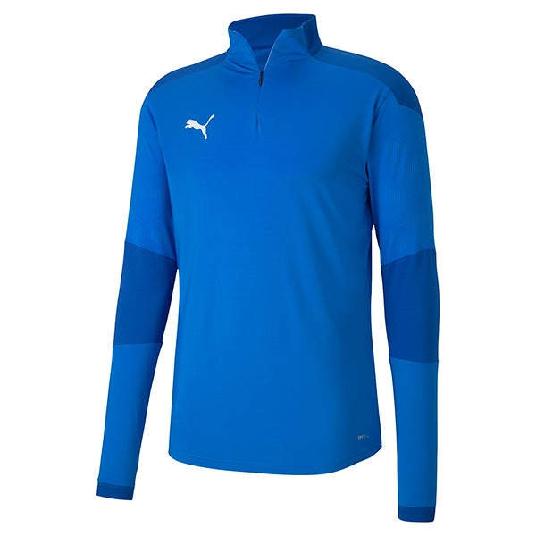 Puma Final Training 1/4 Zip Training Top - Electric Blue/Team Power Blue