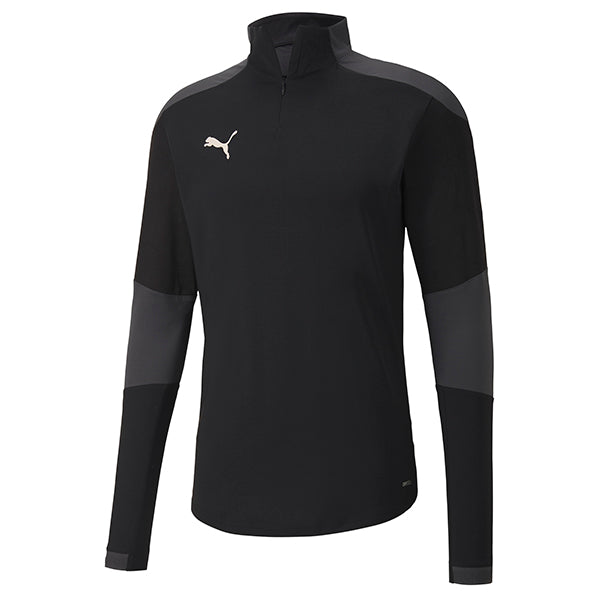 Puma Final Training 1/4 Zip Training Top - Black/Asphalt