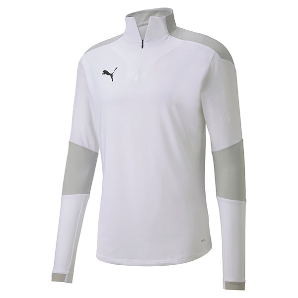 Puma Final Training 1/4 Zip Training Top - White/Grey Violet