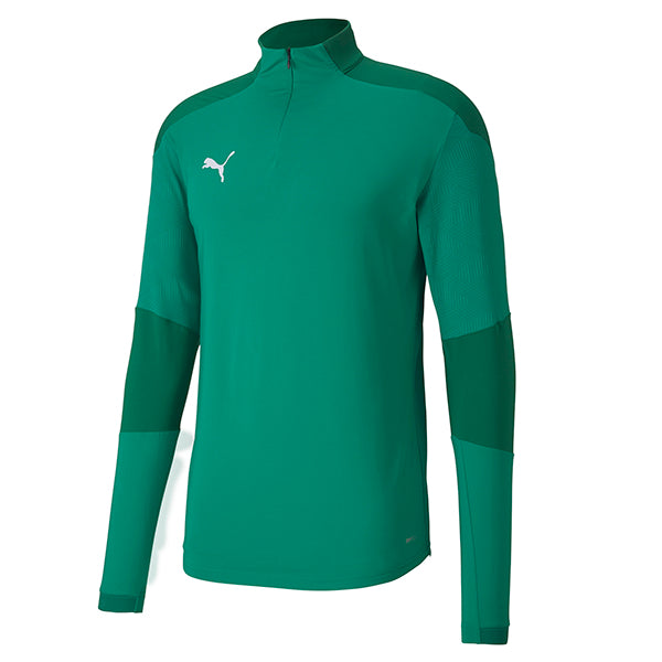 Puma Final Training 1/4 Zip Training Top - Pepper Green/Power Green