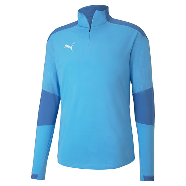 Puma Final Training 1/4 Zip Training Top - Team Light Blue/Blue Yonder