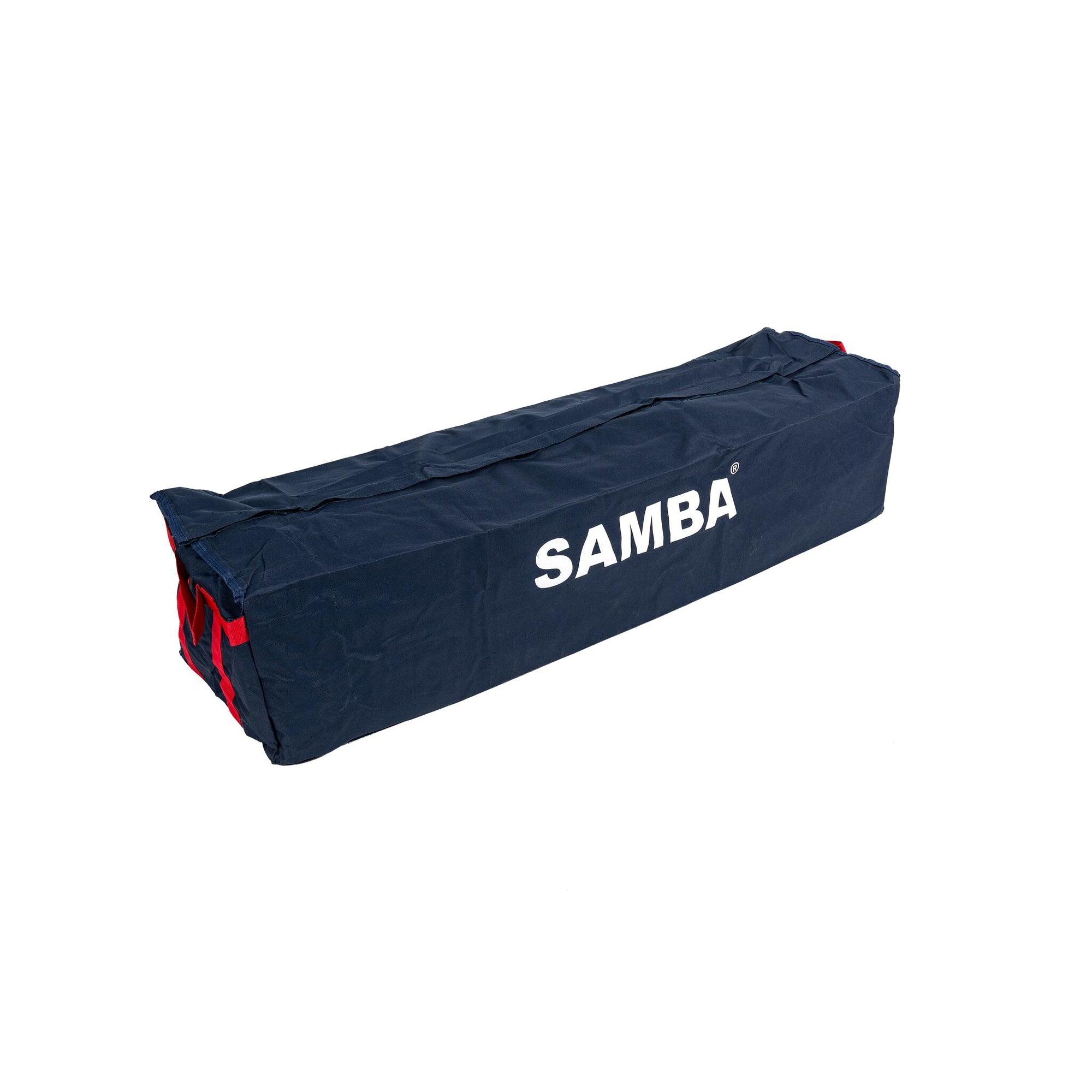 Samba Multi Goal Carry Bag in navy with white Samba logo on the side