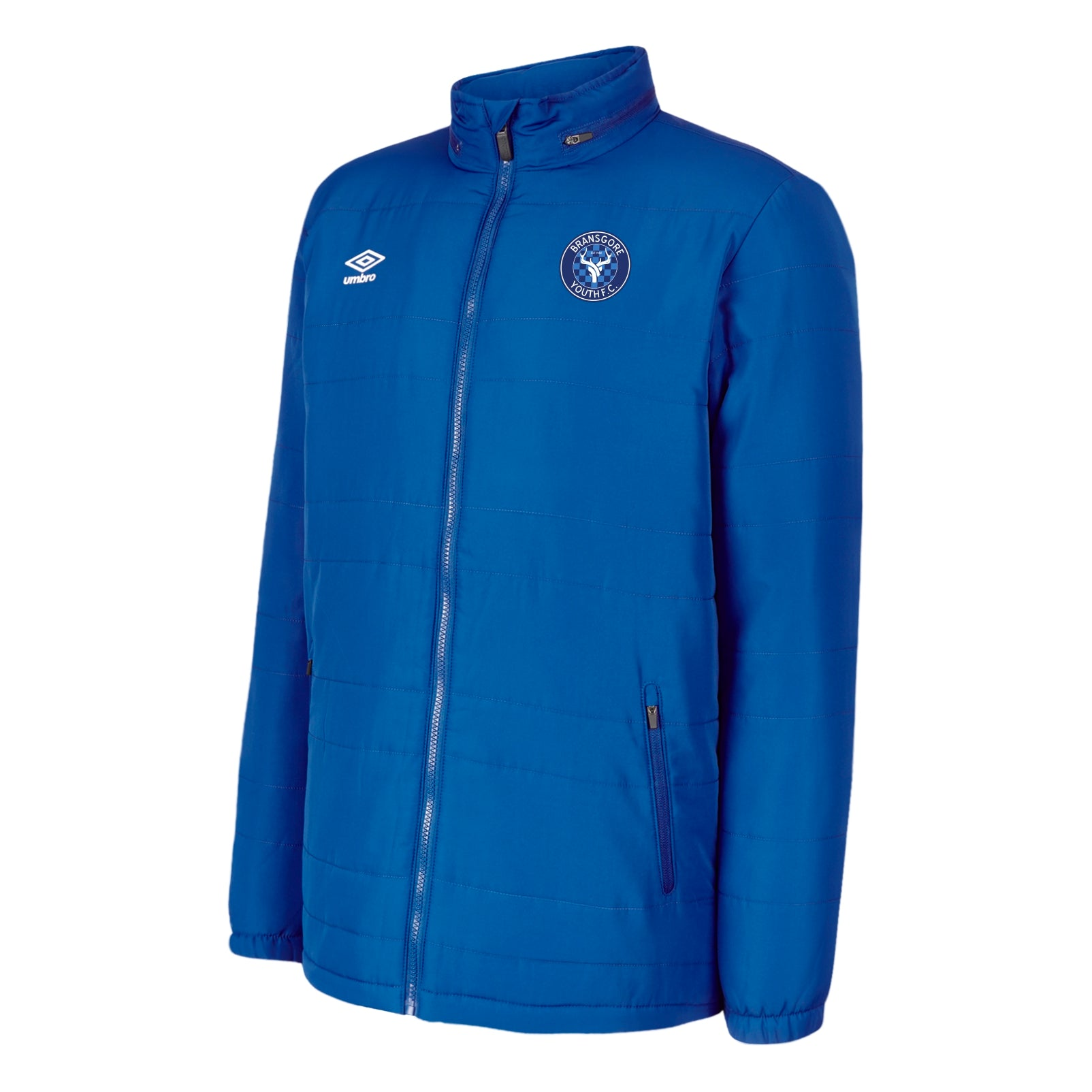 Bransgore Youth Umbro Club Essential Bench Jacket - Royal