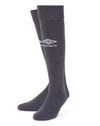 Umbro Classico football sock in carbon (grey) with white Diamond logo on the front