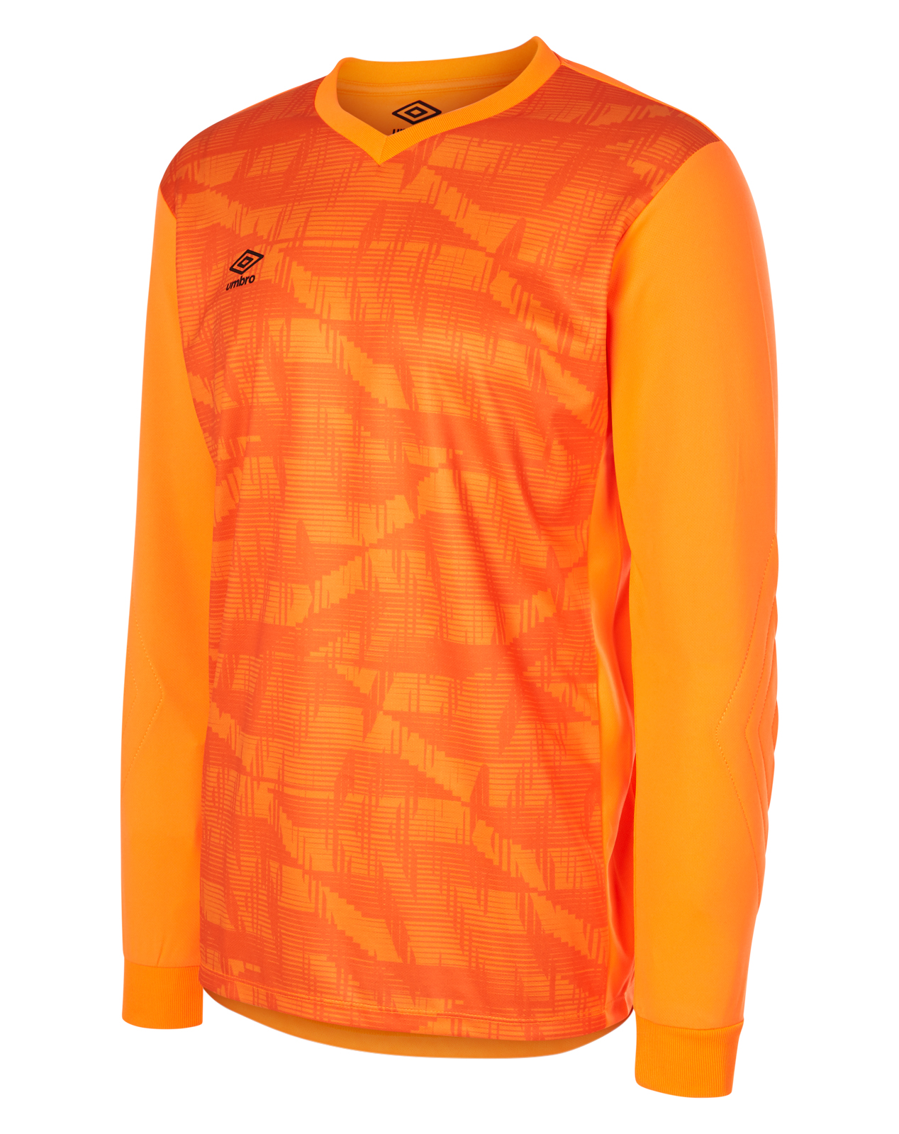 Umbro Counter Jersey in shocking orange with contrast orange main body and single colour long sleeve
