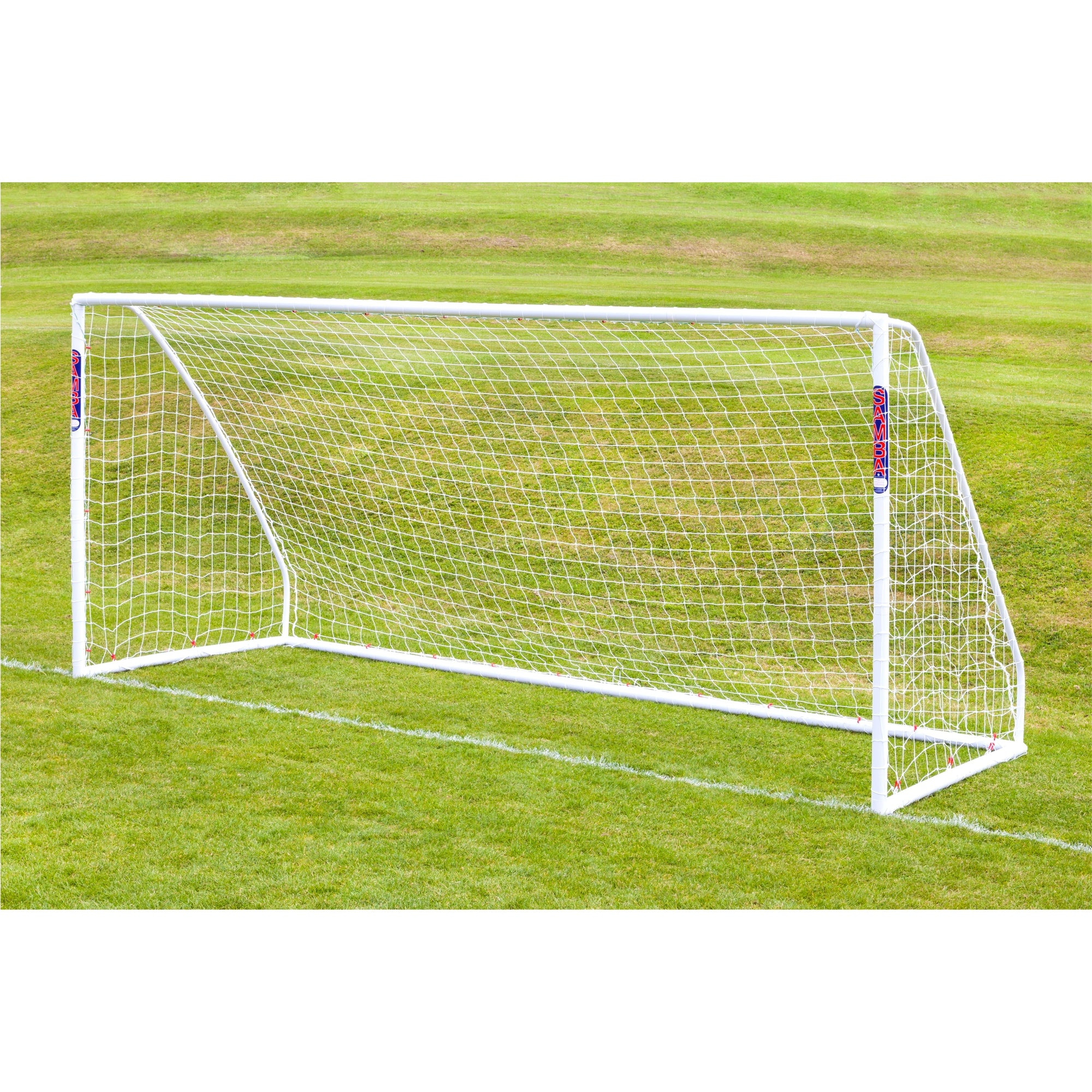 Samba 16x7 Match goal in white with white net