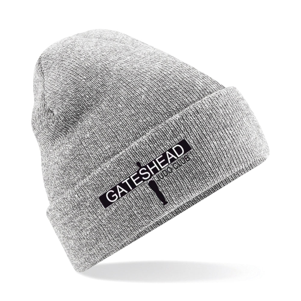Gateshead Judo Club - Cuffed Beanie - Heather Grey