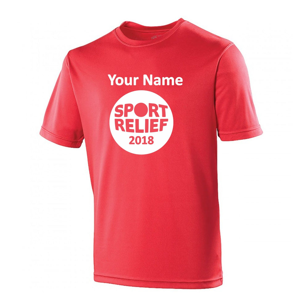 Muddy Runners - Sport Relief - T-Shirt - Fire Red (Schools P-Z)