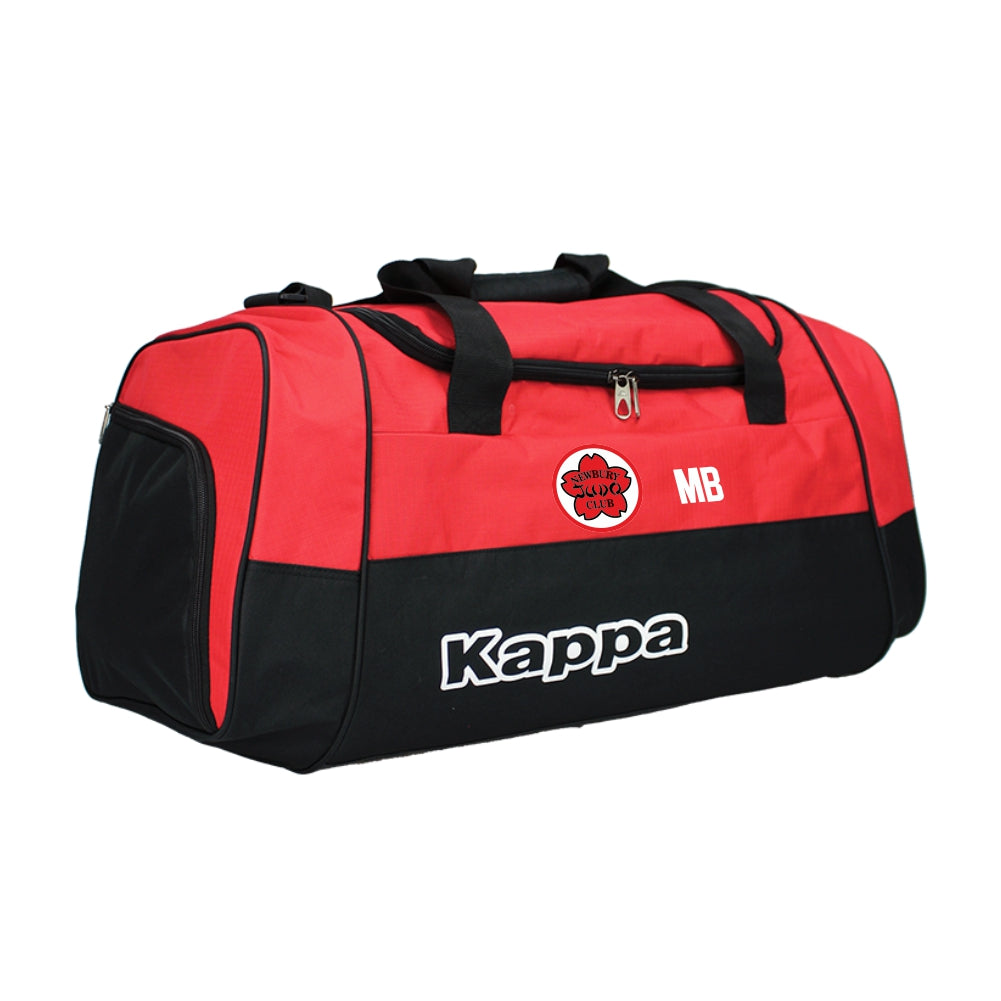Newbury Judo Club - Kappa Brenno Sport Bag - Black/Red