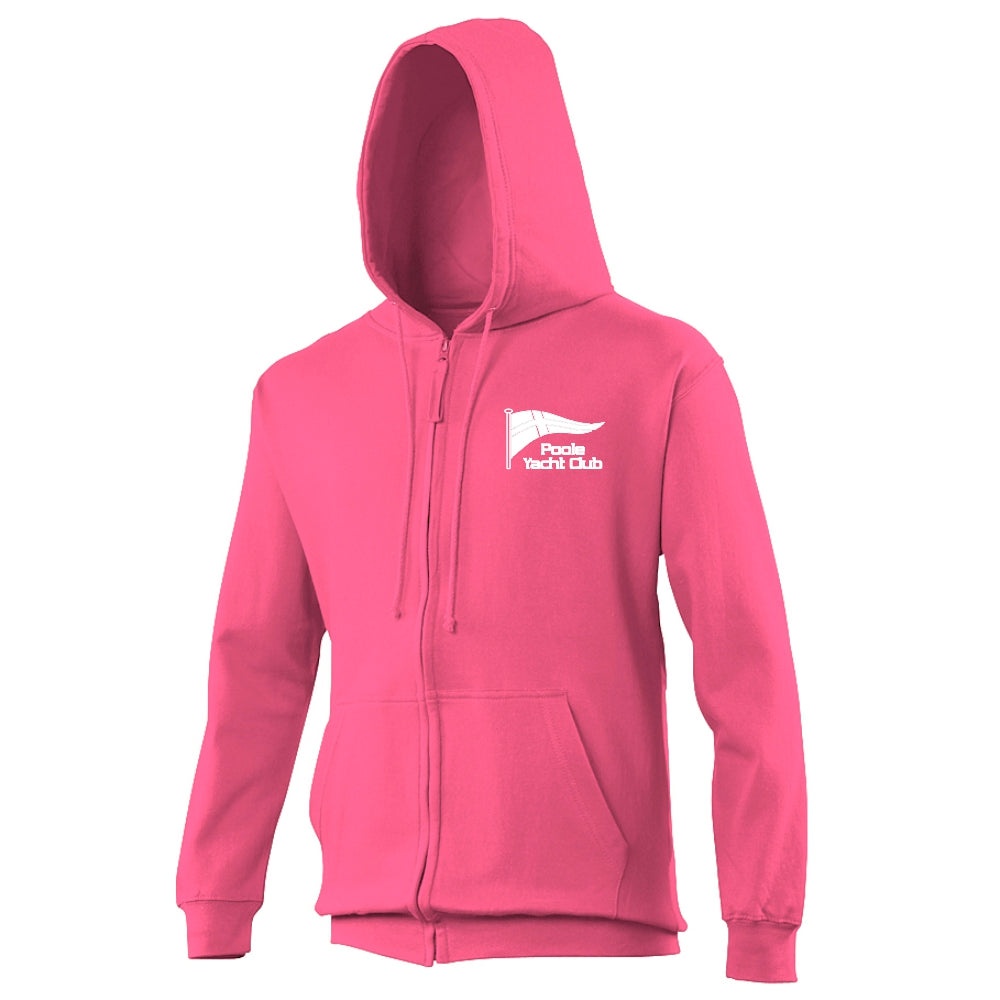 Poole Yacht Club - Youth Zipped Hoody - Hot Pink