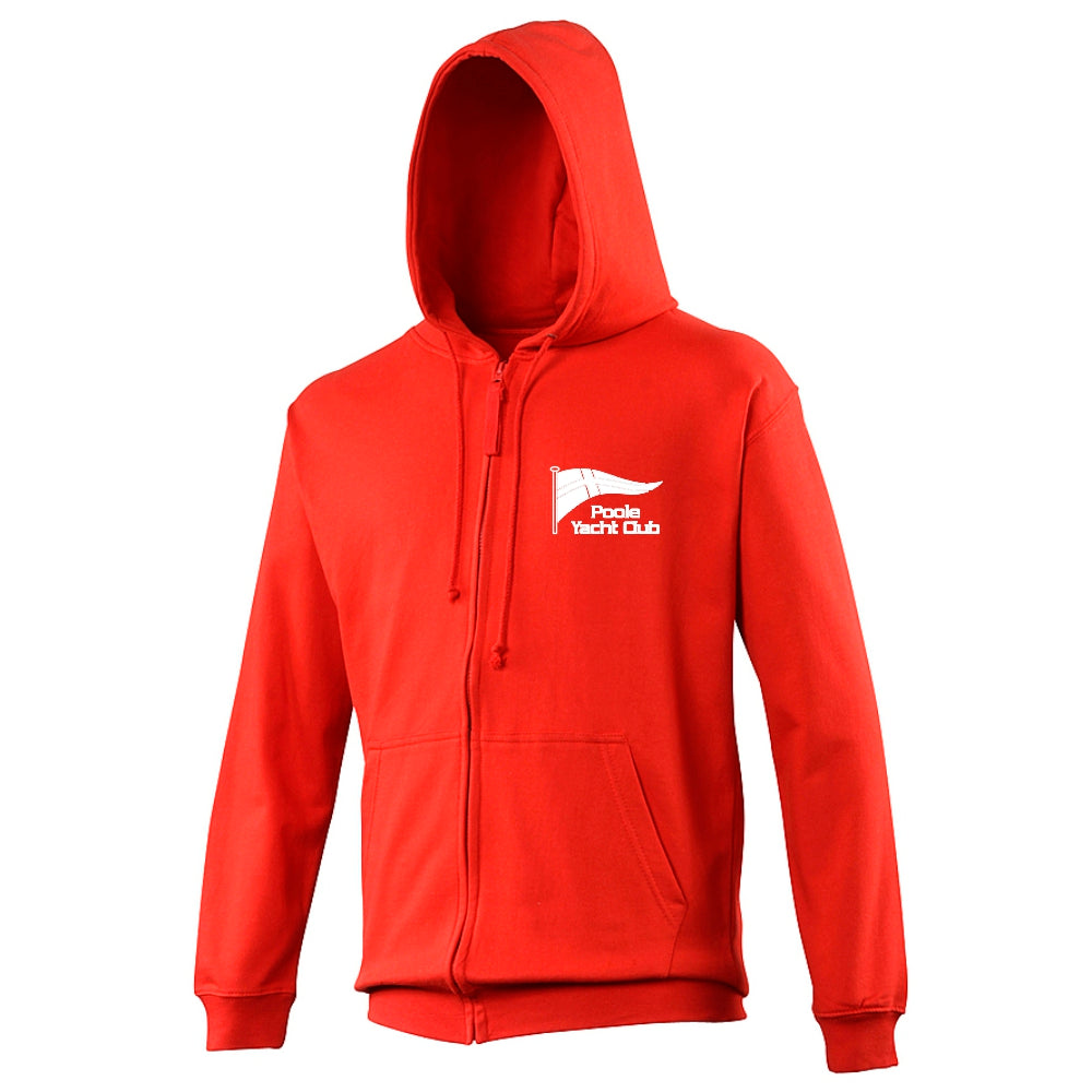 Poole Yacht Club - Youth Zipped Hoody - Fire Red