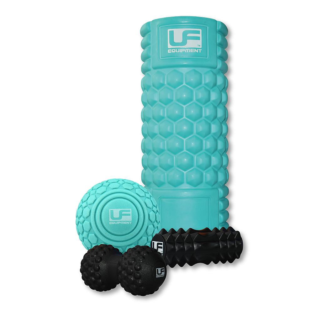 UFE 4 PieceMAssage Set in turquoise and black