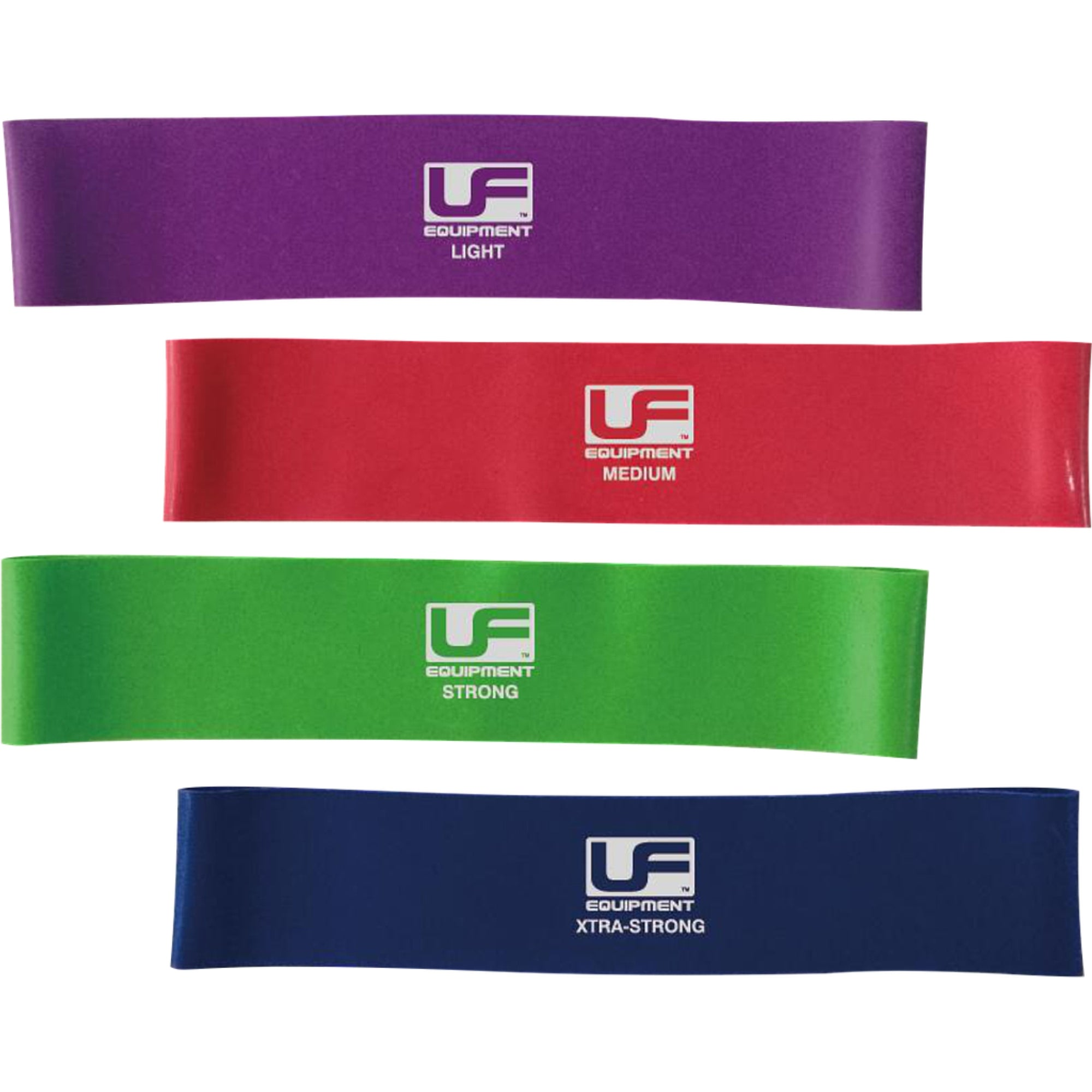 UFA197 UFE Resistance Band Loop 12 inch in light, medium, strong and Xstrong