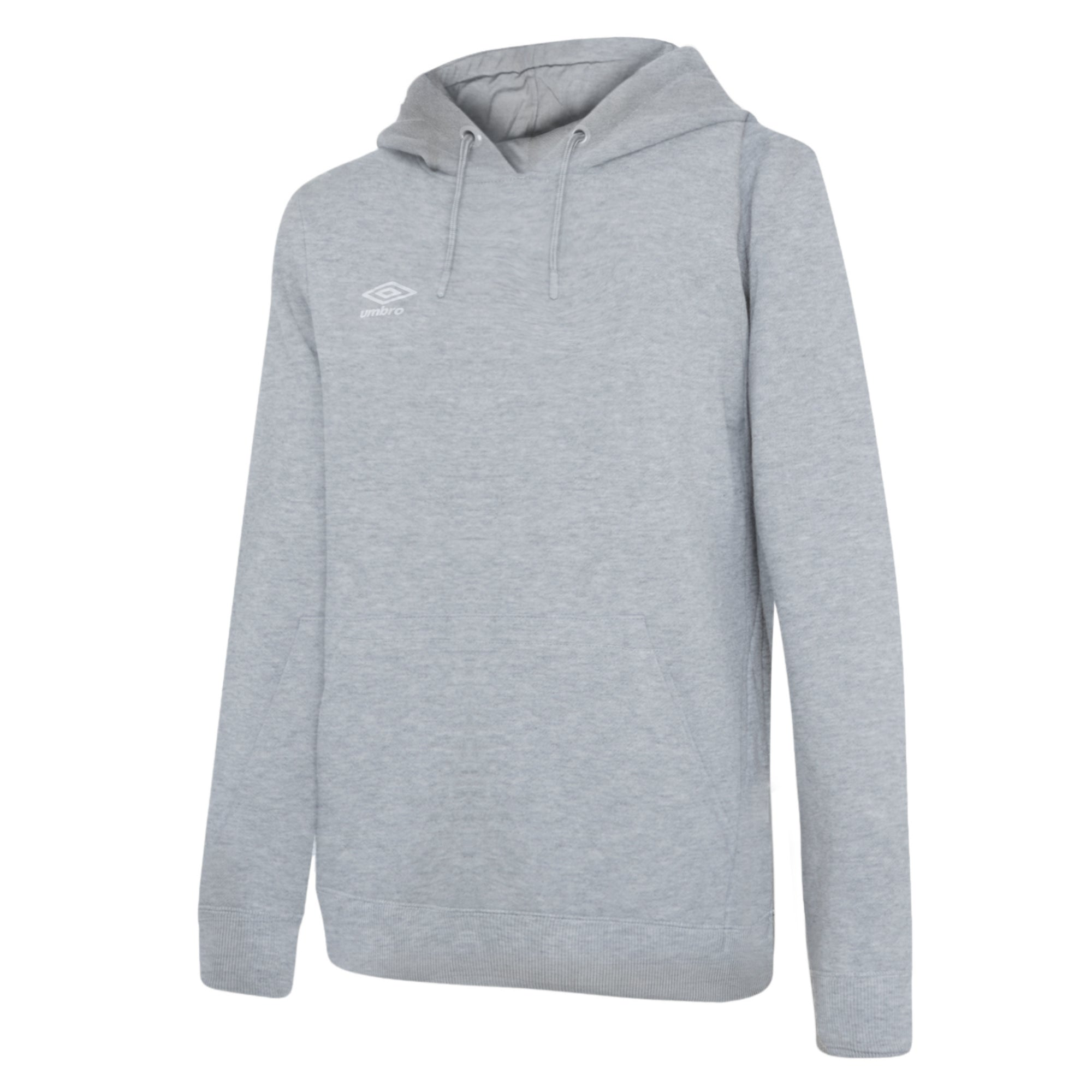 Umbro Club Leisure Women's Hoody - Grey Marl/White