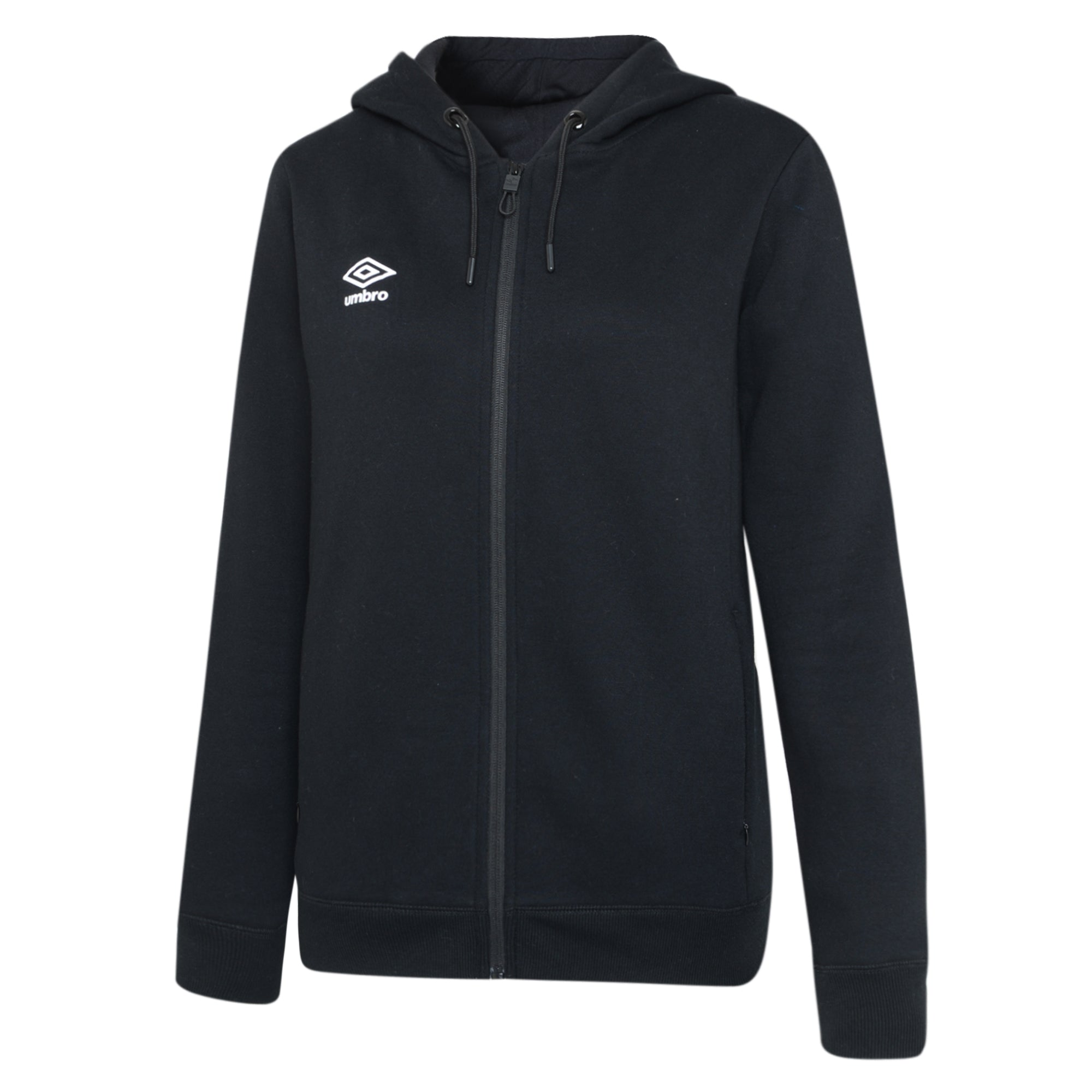Umbro Club Leisure Women's Zipped Hoody - Black/White