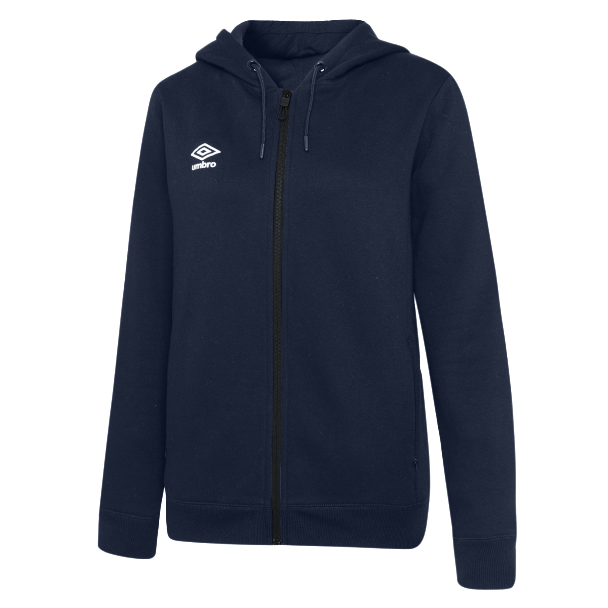 Umbro Club Leisure Women's Zipped Hoody - TW Navy/White